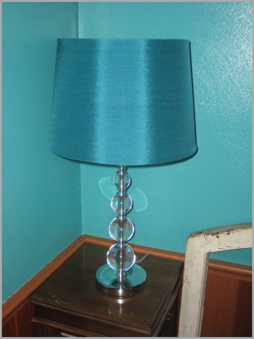 Recent Turquoise Chandelier Lamp Shades Regarding Lighting : Delectable Turquoise Table Lamp Shades Chandelier Bedside (View 3 of 20)