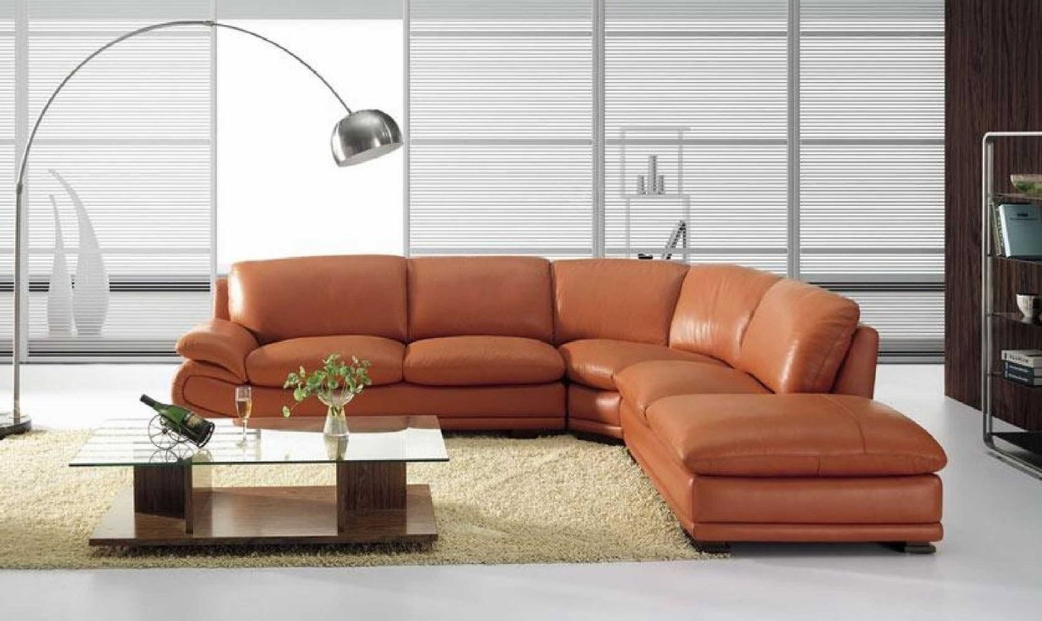 Recent Vig Furniture Bo 3920 Leather Modern Camel Sectional Sofa Intended For Camel Sectional Sofas (View 9 of 20)