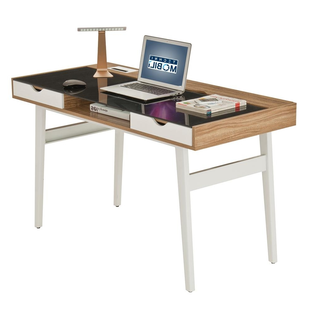 Recent Walnut Compact Computer Desk With Multiple Storage Rta 2335 Wal For Compact Computer Desks (View 8 of 20)