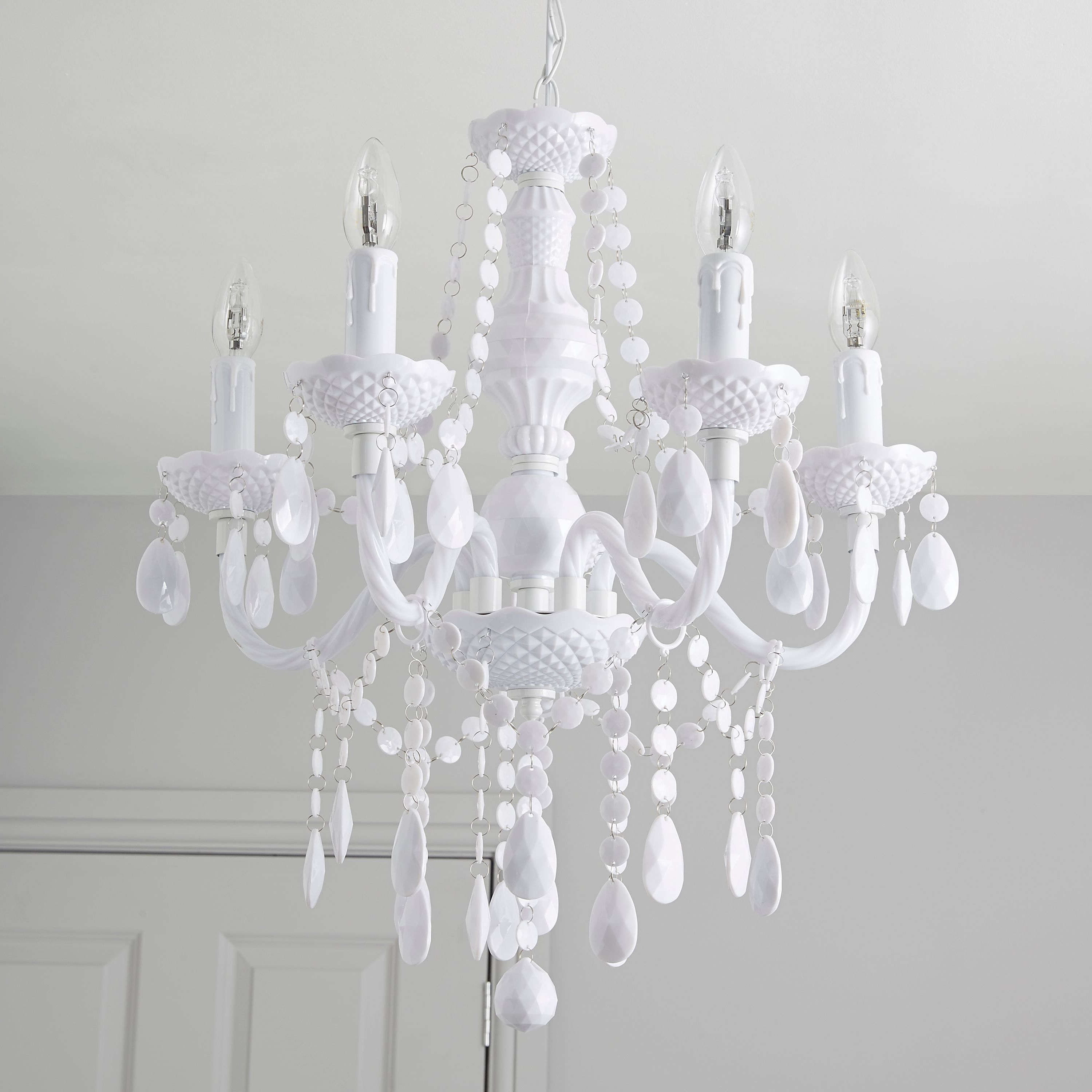 Recent White Crystal Chandelier Vintage Pics Ceiling Fan Whitewhite Kit Regarding White Chandeliers (View 5 of 20)