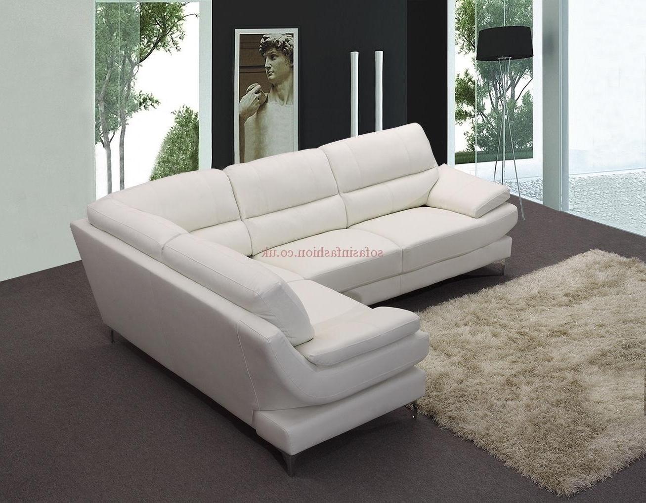 Recent White Leather Corner Sofas For White Corner Sofas (View 9 of 20)