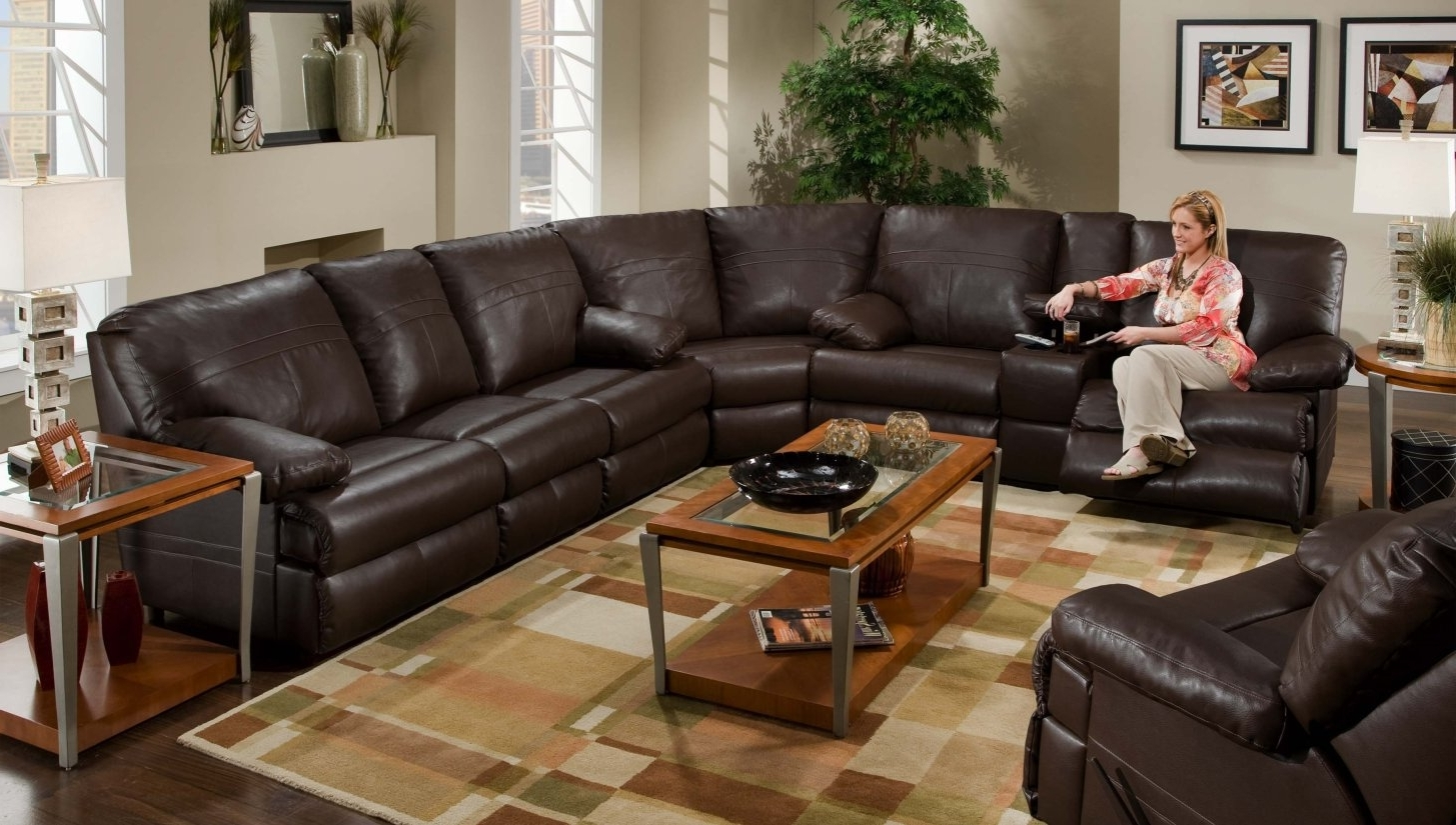 Recliner : Ideal Sectional Sofa With Recliner Leather Hypnotizing Intended For Widely Used Sectional Sofas At Bangalore (View 7 of 20)
