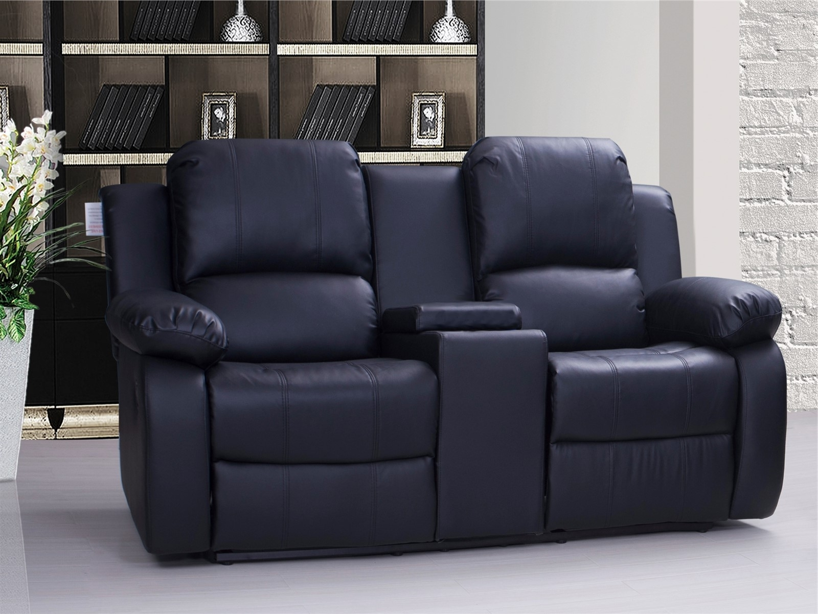 Recliners Chairs & Sofa : Black Leather Reclining Sofa With Seater Pertaining To Popular Red Leather Reclining Sofas And Loveseats (View 13 of 20)