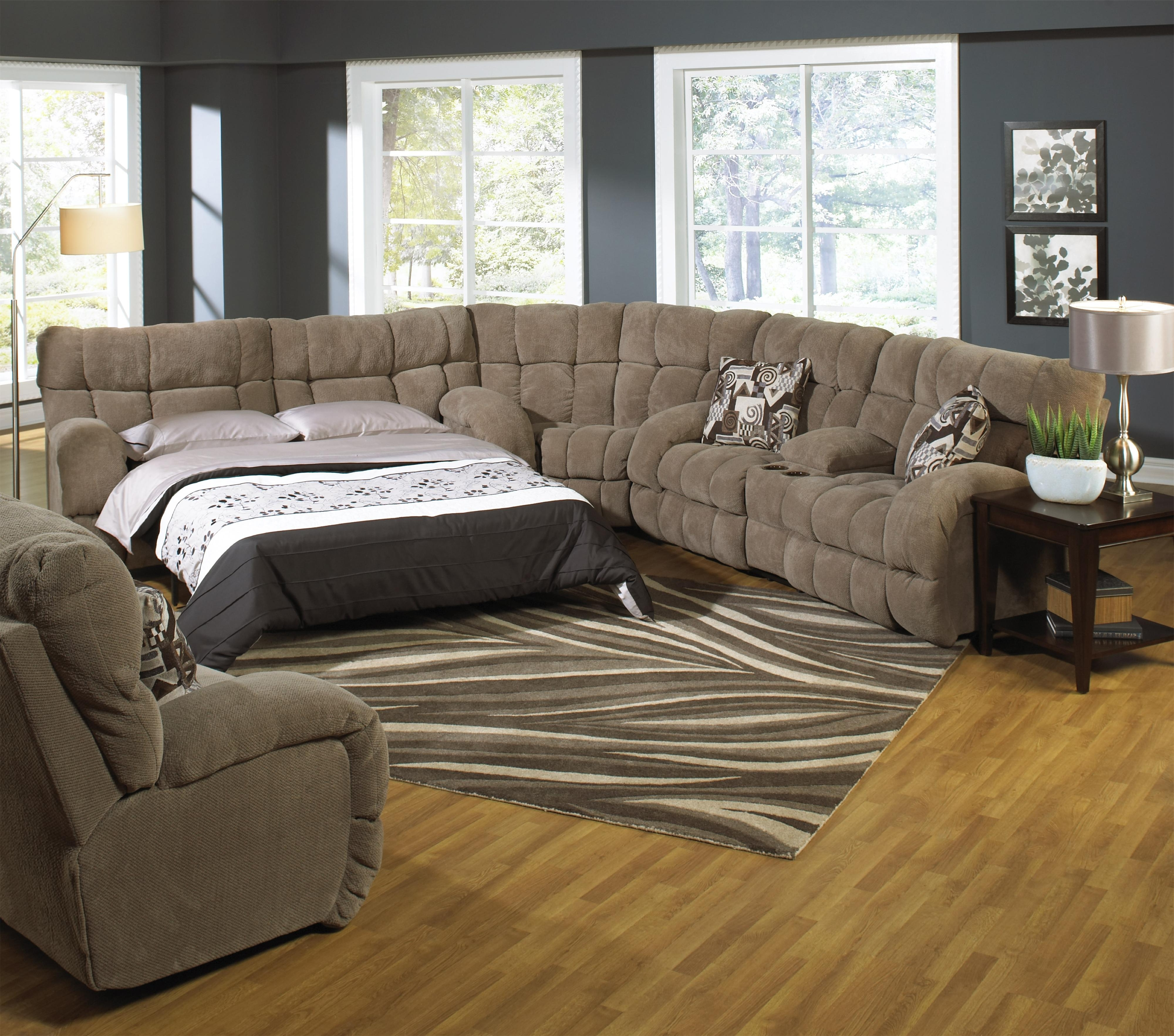Reclining Sectional Sofa With Sofa Sleepercatnapper (View 17 of 20)