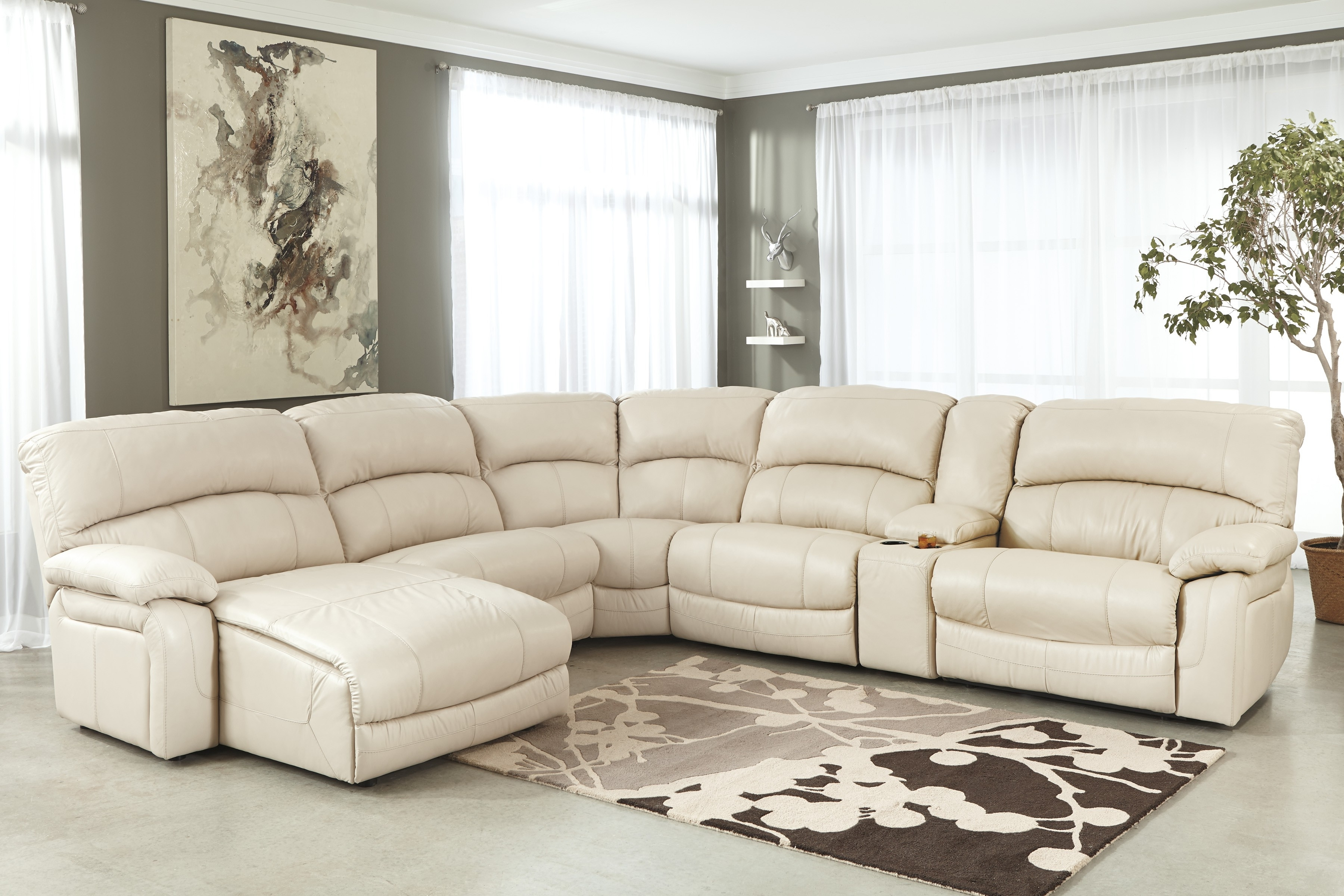 Reclining U Shaped Sectionals Inside Popular Sectional Sofa Design: Most Inspired White Leather Sectional Sofa (View 13 of 20)