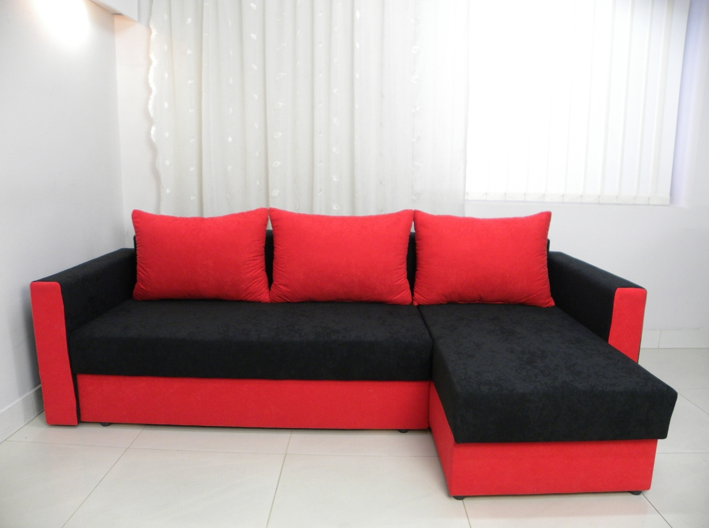 Red And Black Sofas Pertaining To Well Known Home Decor Red And Black Sofas Fabric Sofa Loveseat Set Fabricred (View 5 of 20)