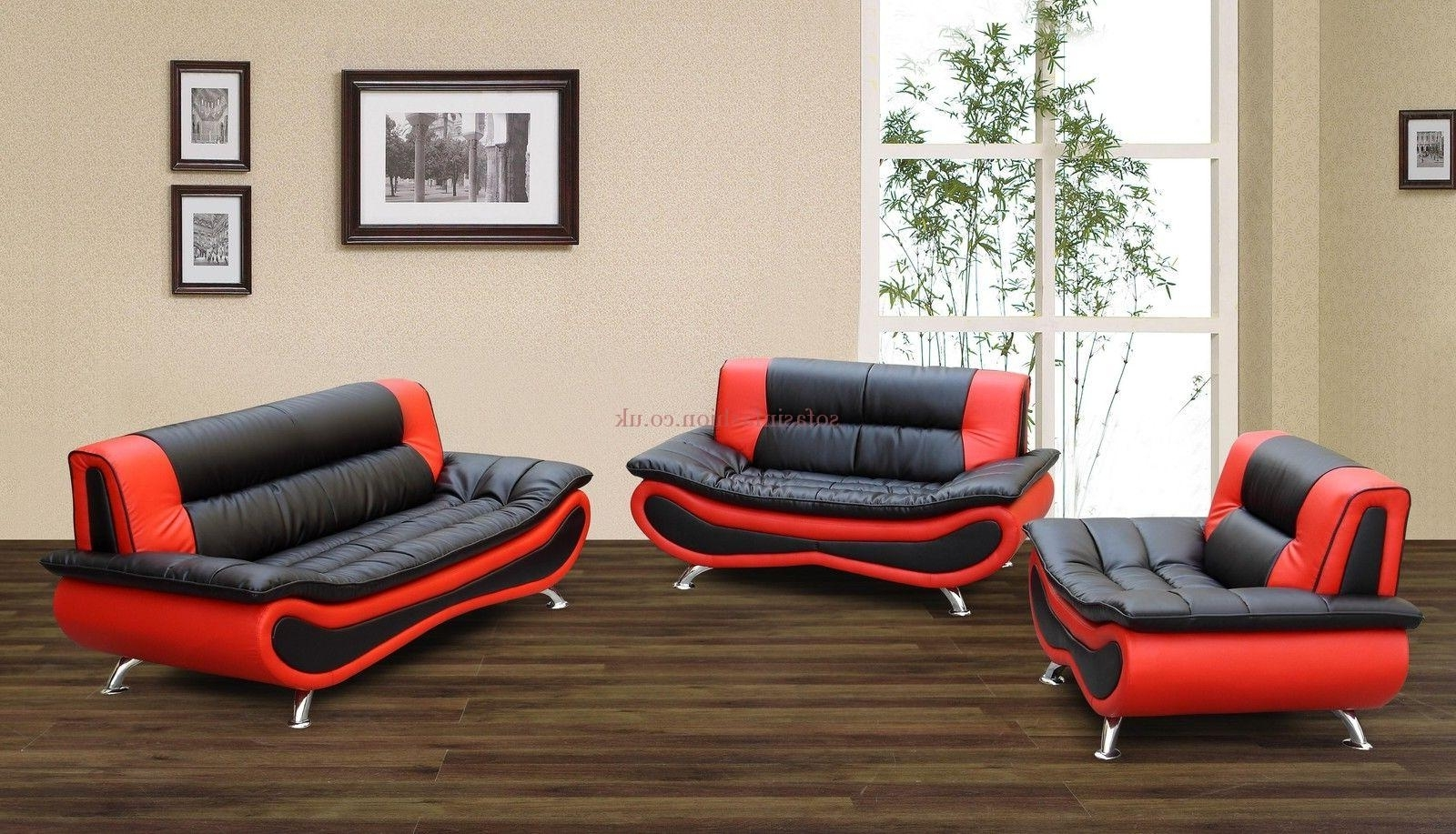 Red And Black Sofas With Regard To Most Up To Date Leather Sofa Sale Black Red Napoli Faux Sofas – Dma Homes (View 12 of 20)
