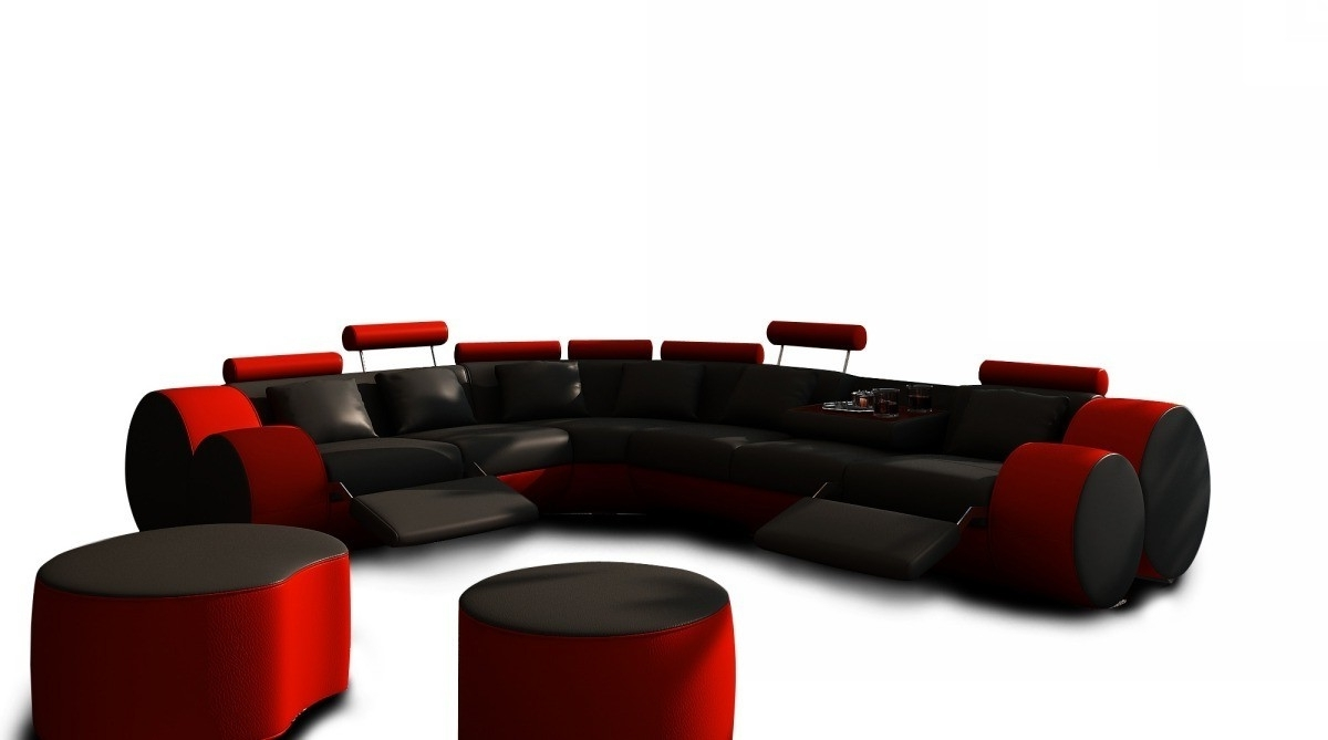 Red Black Sectional Sofas With Regard To Most Current Beautiful Red And Black Sectional Sofa – Buildsimplehome (View 13 of 20)