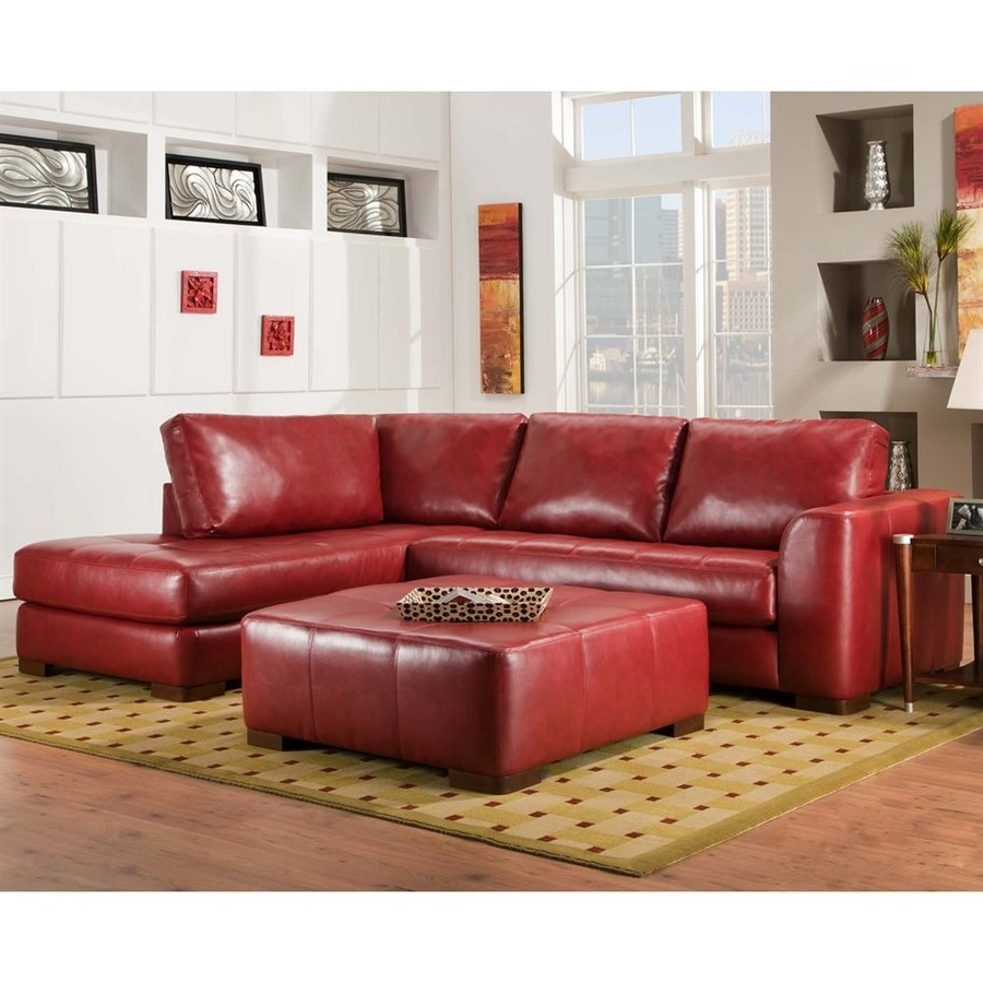 Red Faux Leather Sectionals With Current Shop Chelsea Home Salem Casual Como Bold Red Faux Leather (View 14 of 20)