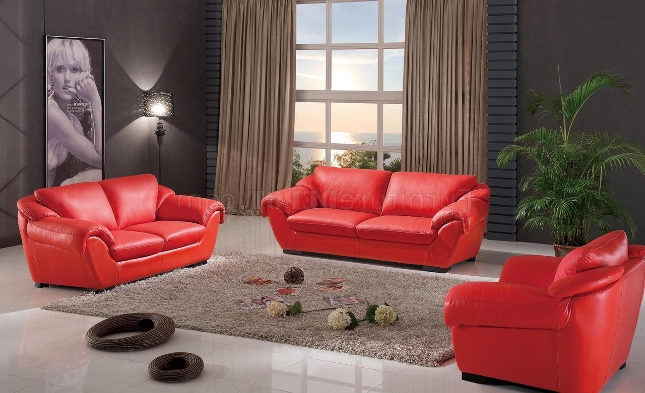 Red Leather Couches And Loveseats In Best And Newest 8080 Sofa In Red Leatheresf W/optional Loveseat & Chair (View 10 of 20)