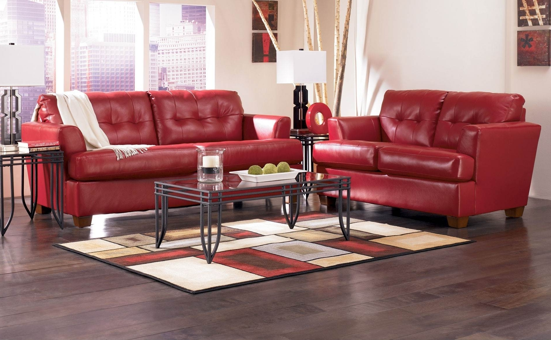 Red Leather Couches For Living Room Within Best And Newest Living Room Decorating Ideas With Red Leather Couch (View 18 of 20)