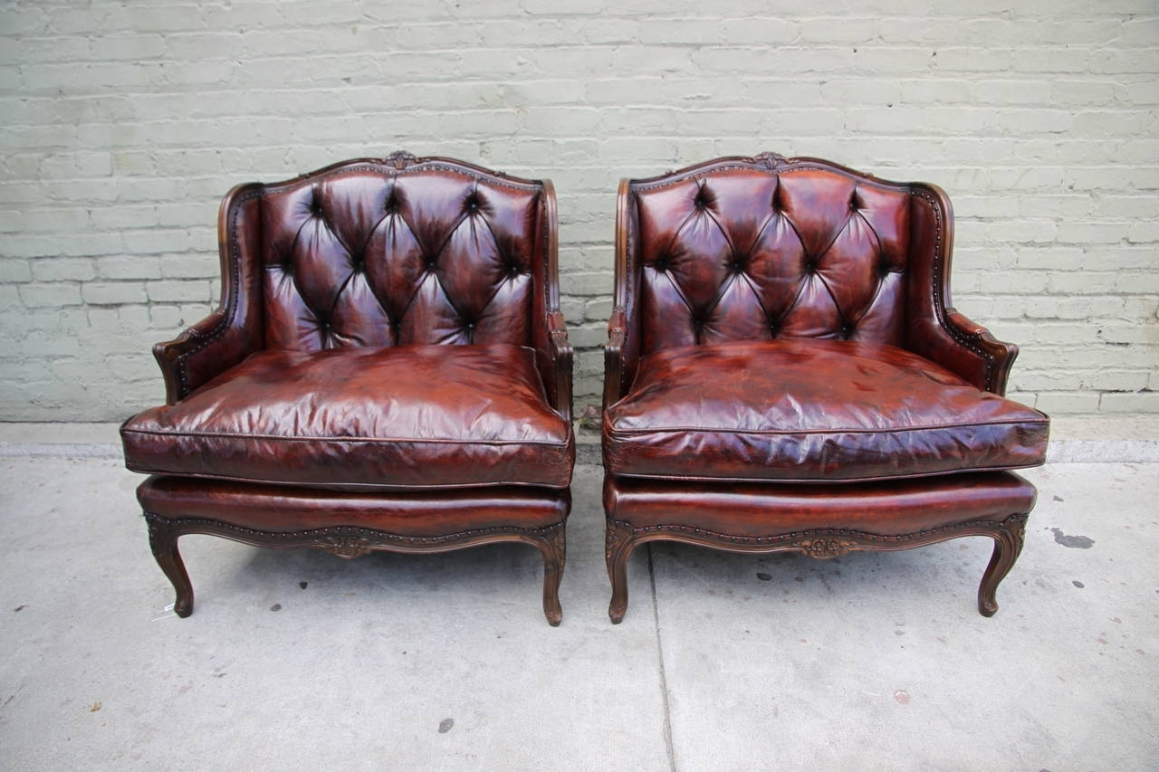Red Leather Couches Regarding Recent Distressed Leather Ottoman Rustic Red Leather Sofa Red (View 16 of 20)