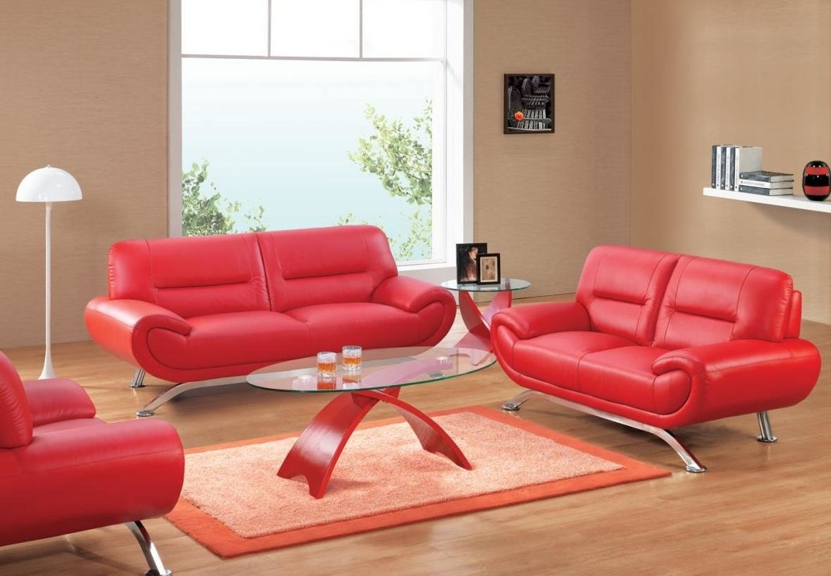Red Leather Couches With Regard To Popular Luxury Red Leather Sofas 39 For Office Sofa Ideas With Red Leather (View 14 of 20)