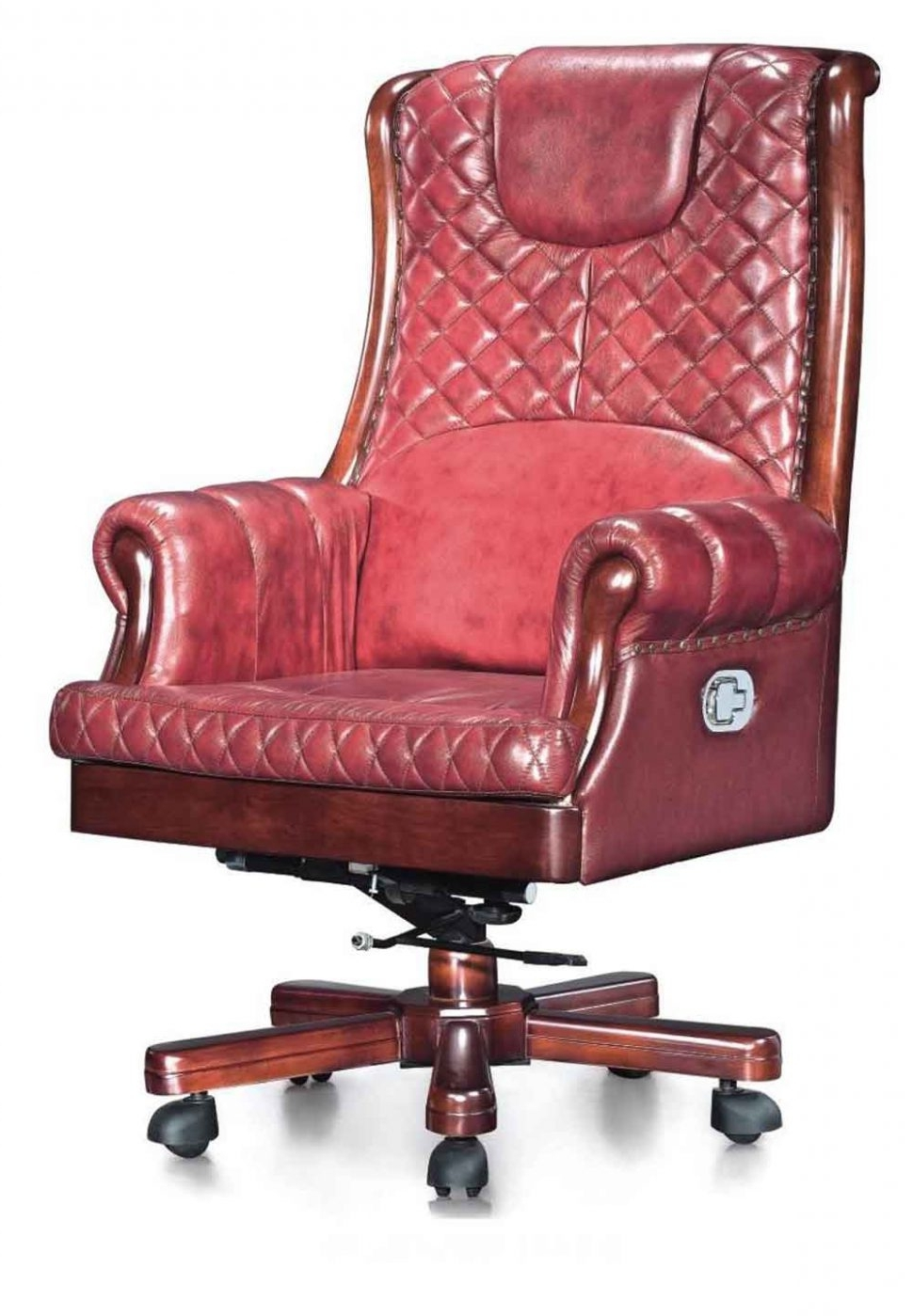 Red Leather Executive Office Chairs With Preferred Chairs : Green Leather Office Chair Leather Office Desk High End (View 17 of 20)
