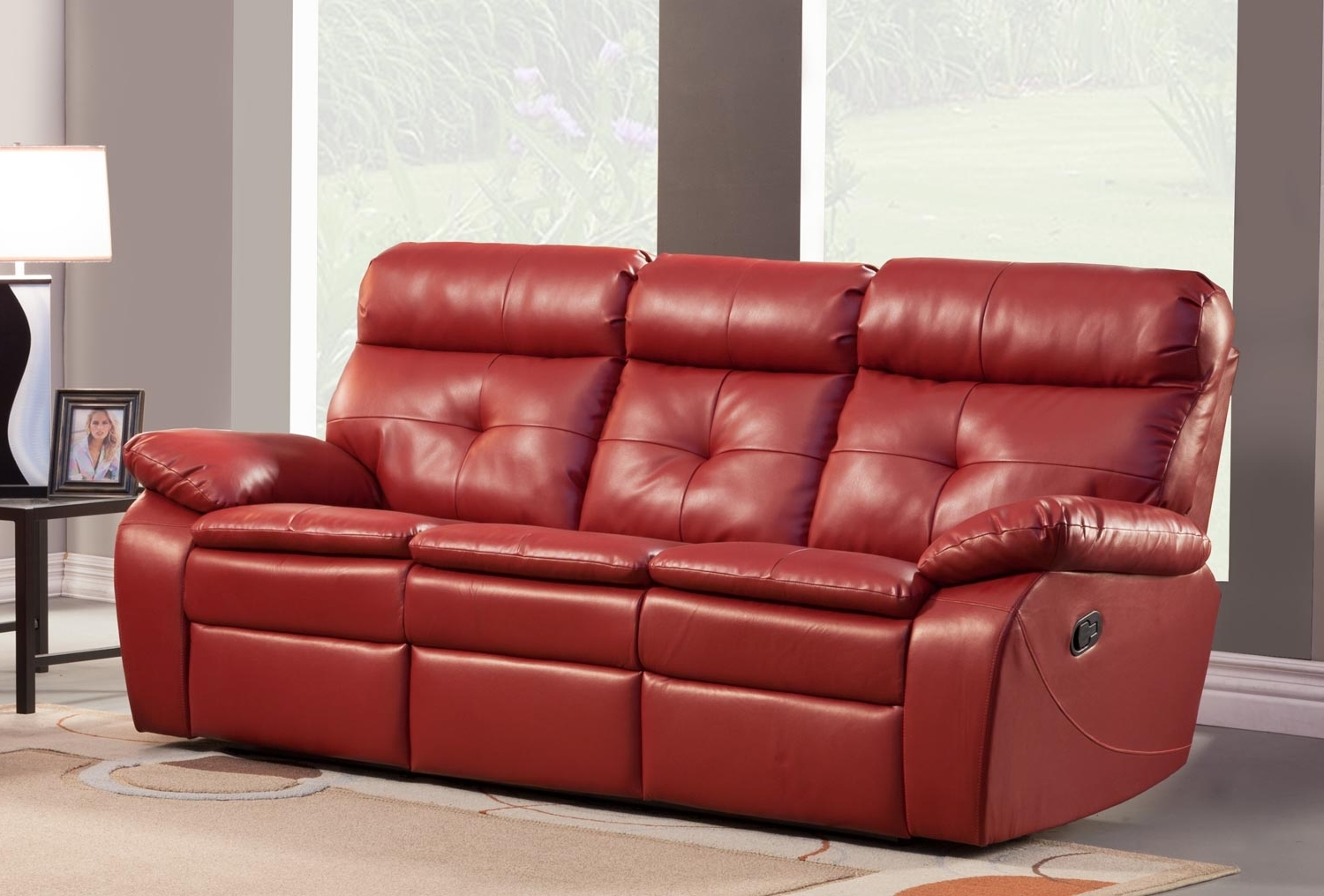 Red Leather Recliner Sofa – Home And Textiles Within Preferred Red Leather Reclining Sofas And Loveseats (View 6 of 20)