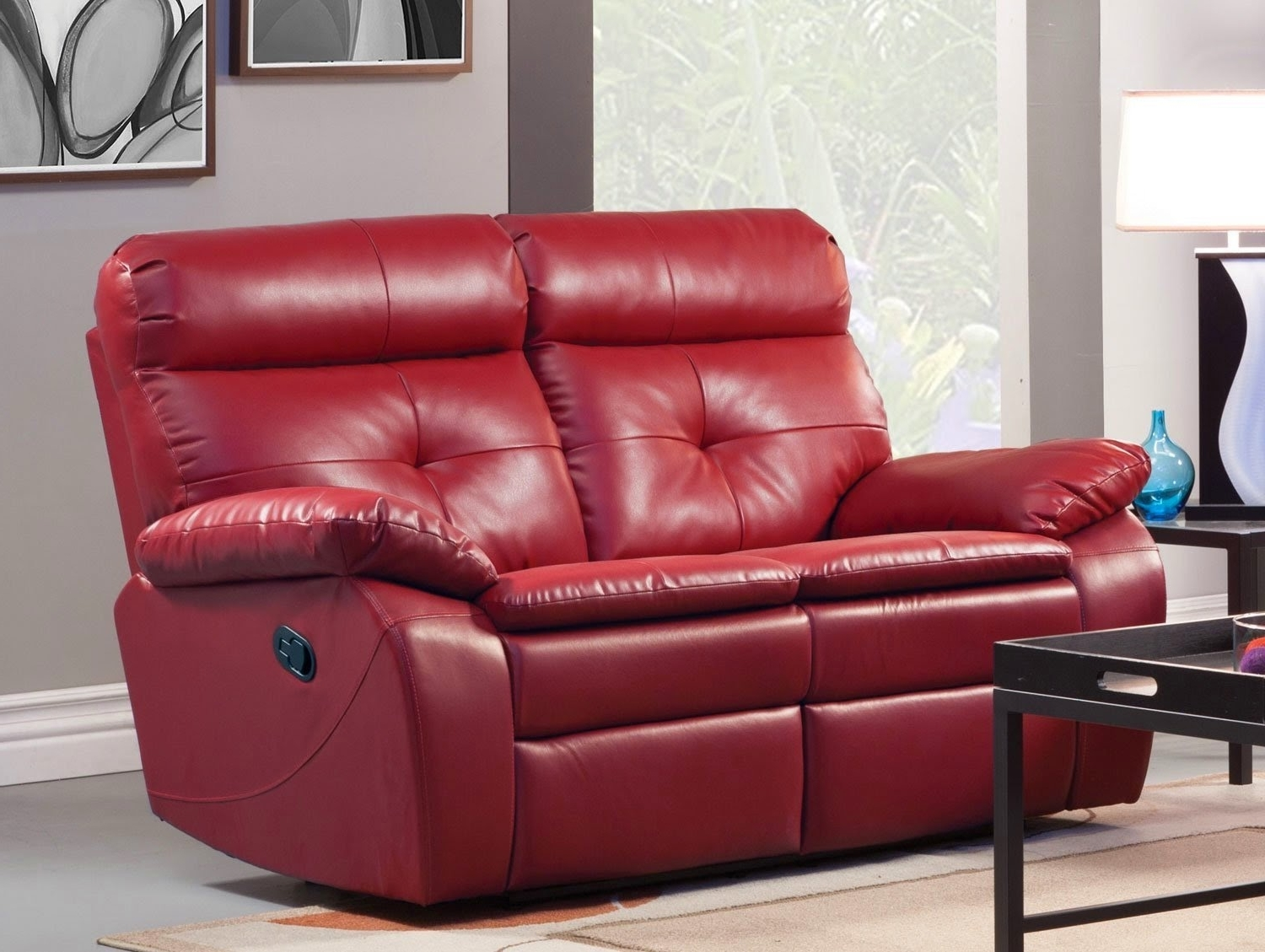 Red Leather Reclining Sofas And Loveseats Intended For Well Known The Best Reclining Sofa Reviews: Red Leather Reclining Sofa And (View 5 of 20)