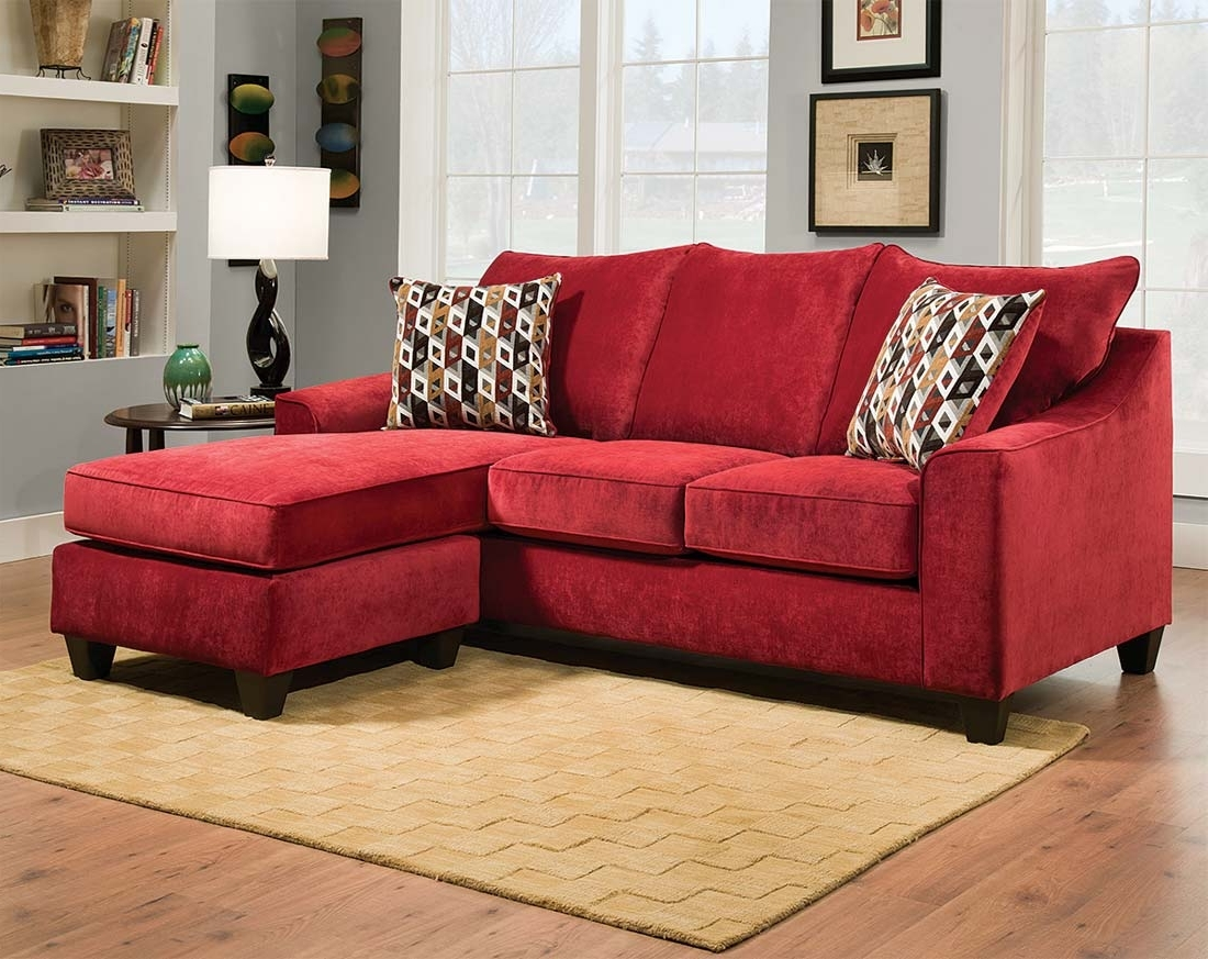Red Leather Sectional Sofas With Ottoman Intended For Newest Sectional Sofa Design: Wonderful Red Sectional Sofa With Chaise (View 10 of 20)