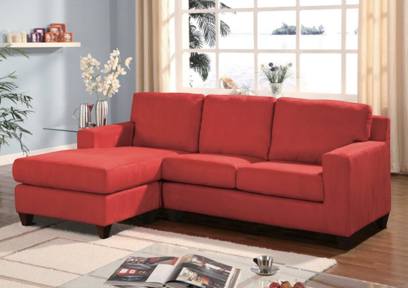 Red Leather Sectionals With Ottoman With Well Known 75 Modern Sectional Sofas For Small Spaces (2018) (View 15 of 20)