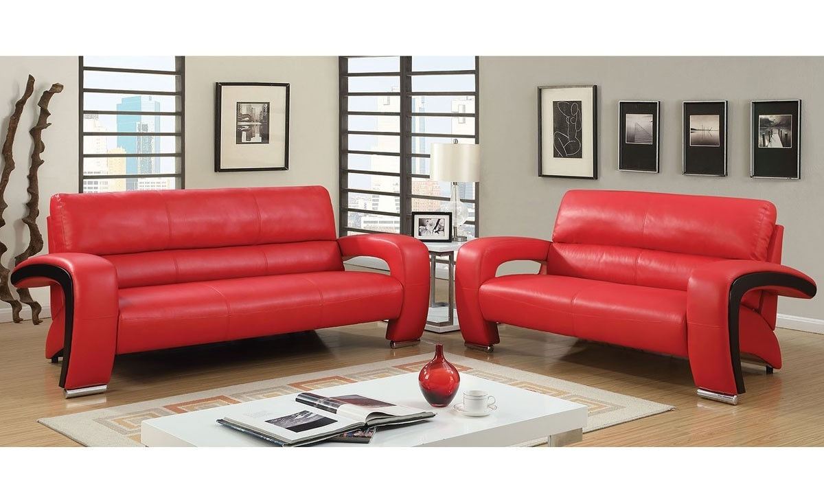 Red Leather Sofas In Famous Modern Red Leather Sofa (View 8 of 20)