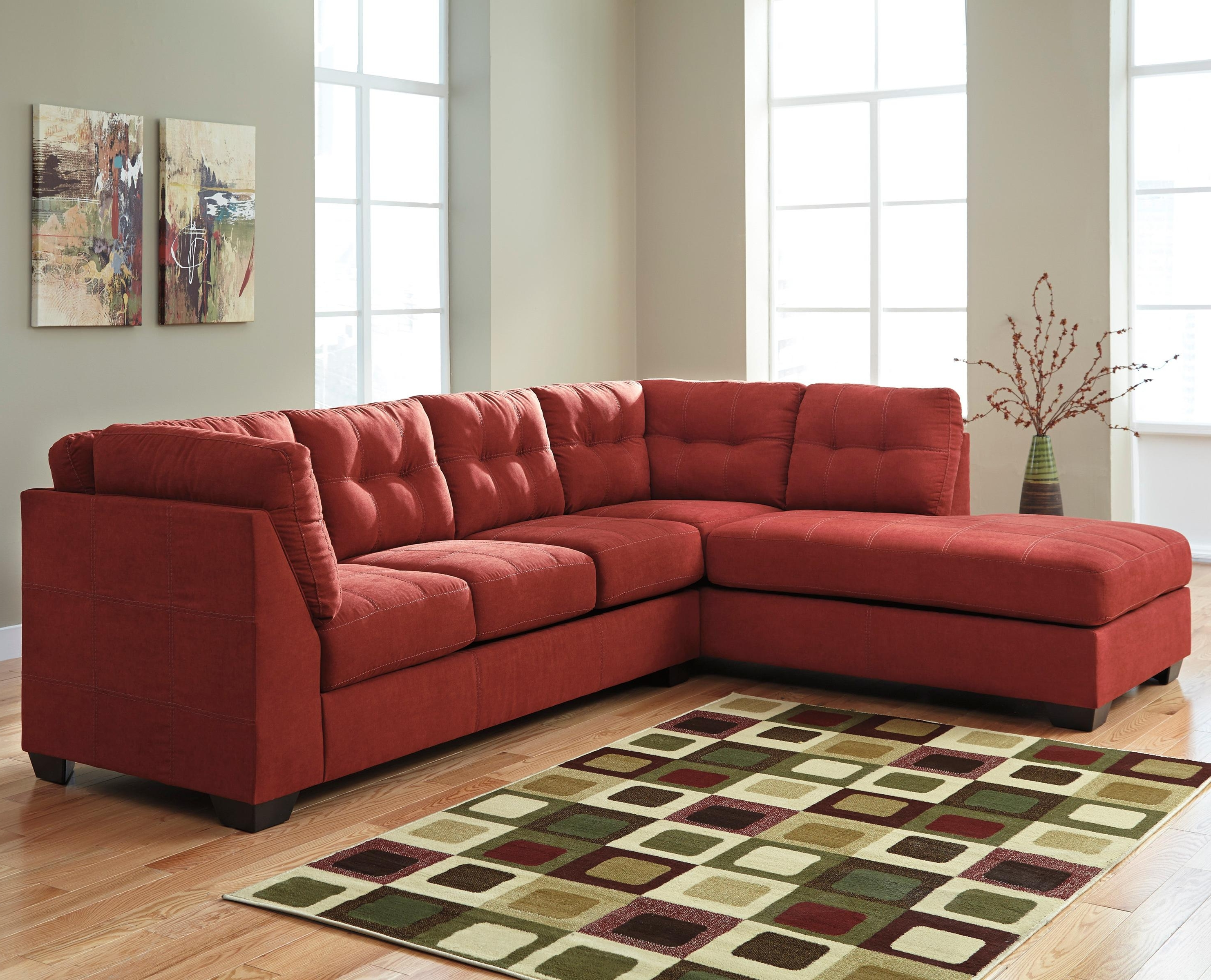 Red Sleeper Sofas In Most Up To Date 2 Piece Sectional W/ Sleeper Sofa & Left Chaisebenchcraft (View 11 of 20)