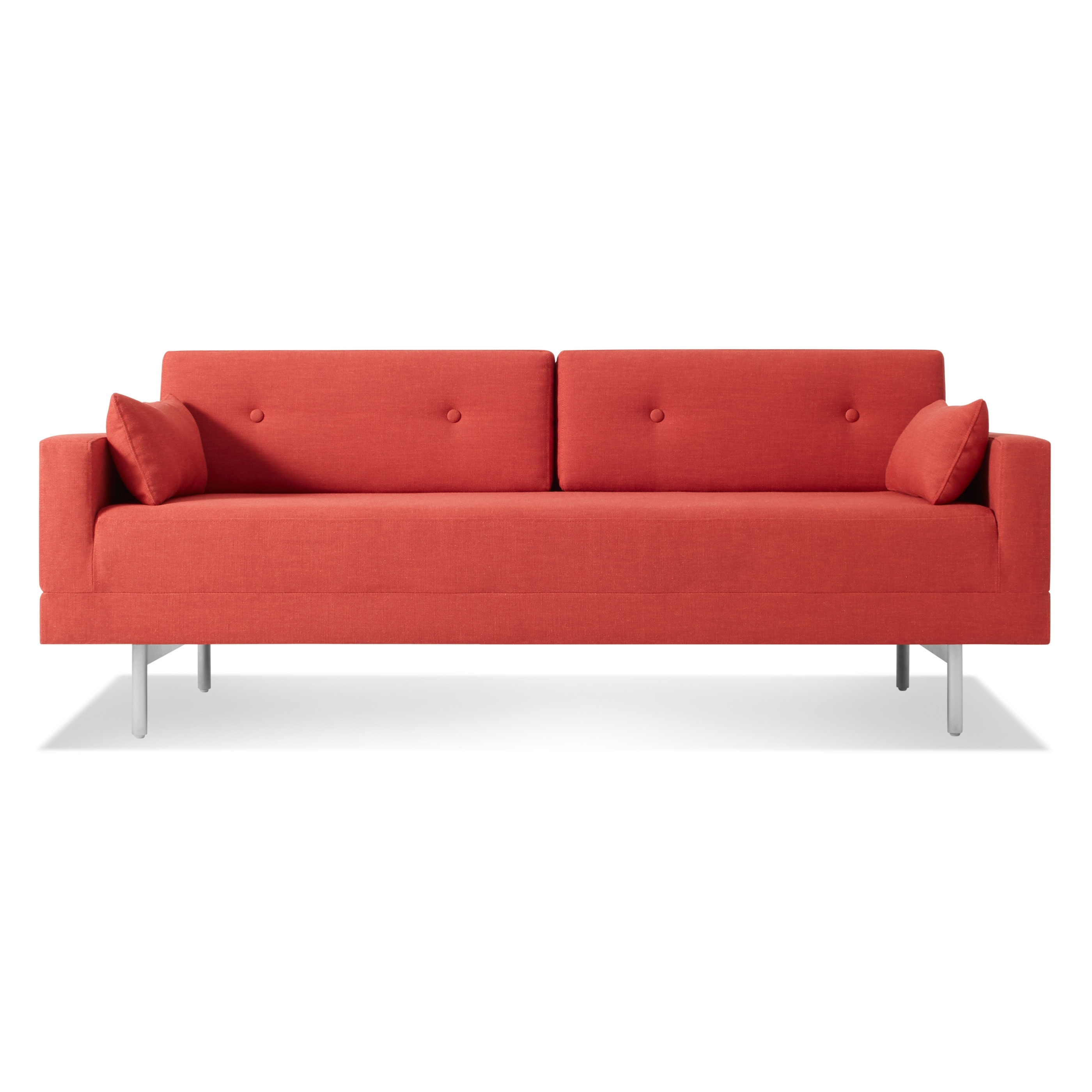 Red Sleeper Sofas Intended For Current One Night Stand Modern Queen Sleeper Sofa (View 2 of 20)