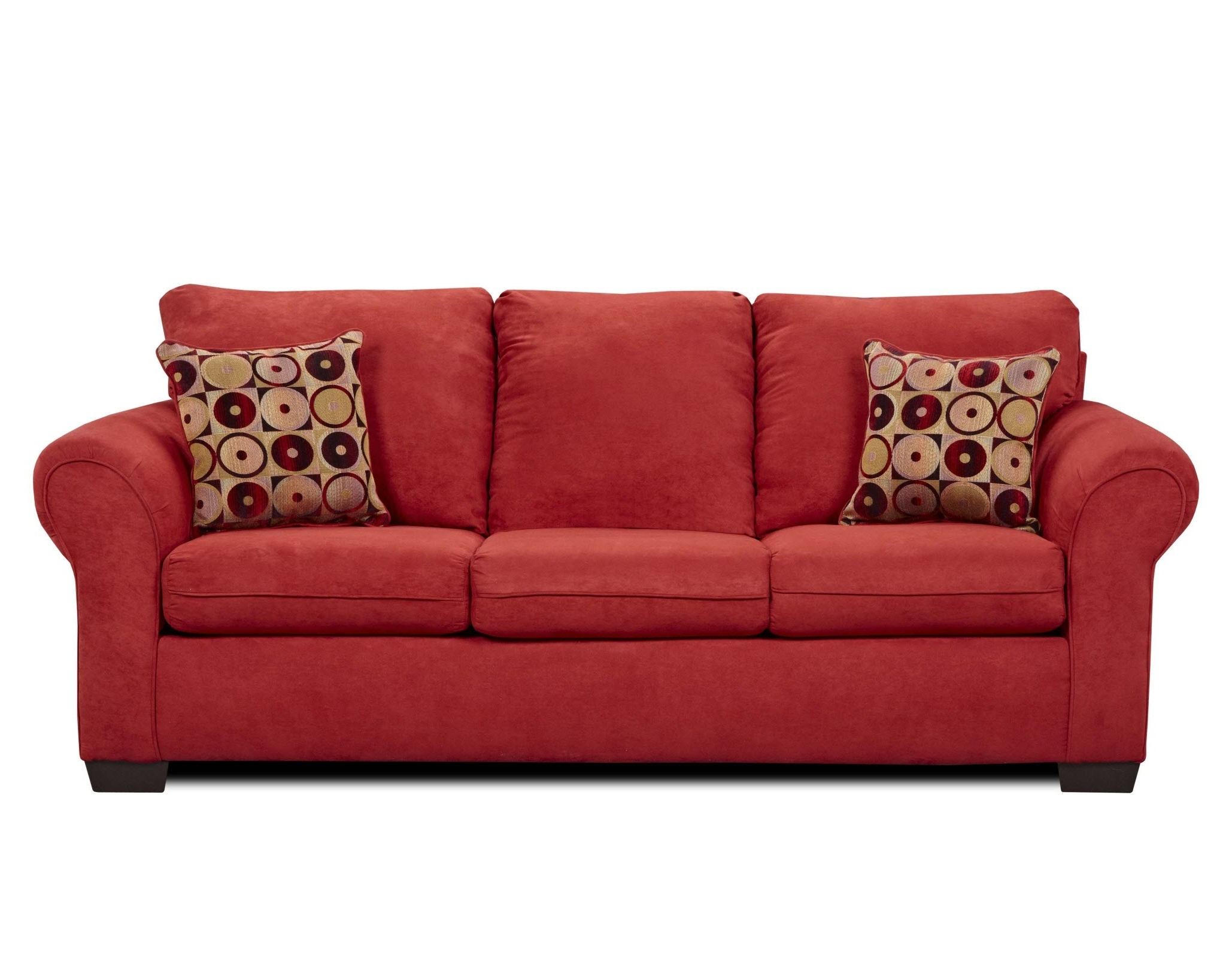 Red Sofa Chairs Pertaining To Widely Used Fabric Red Sofa Sets Attached Back (View 5 of 20)