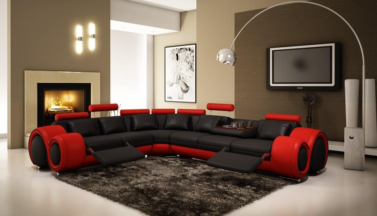 Red With Red Black Sectional Sofas (View 6 of 20)
