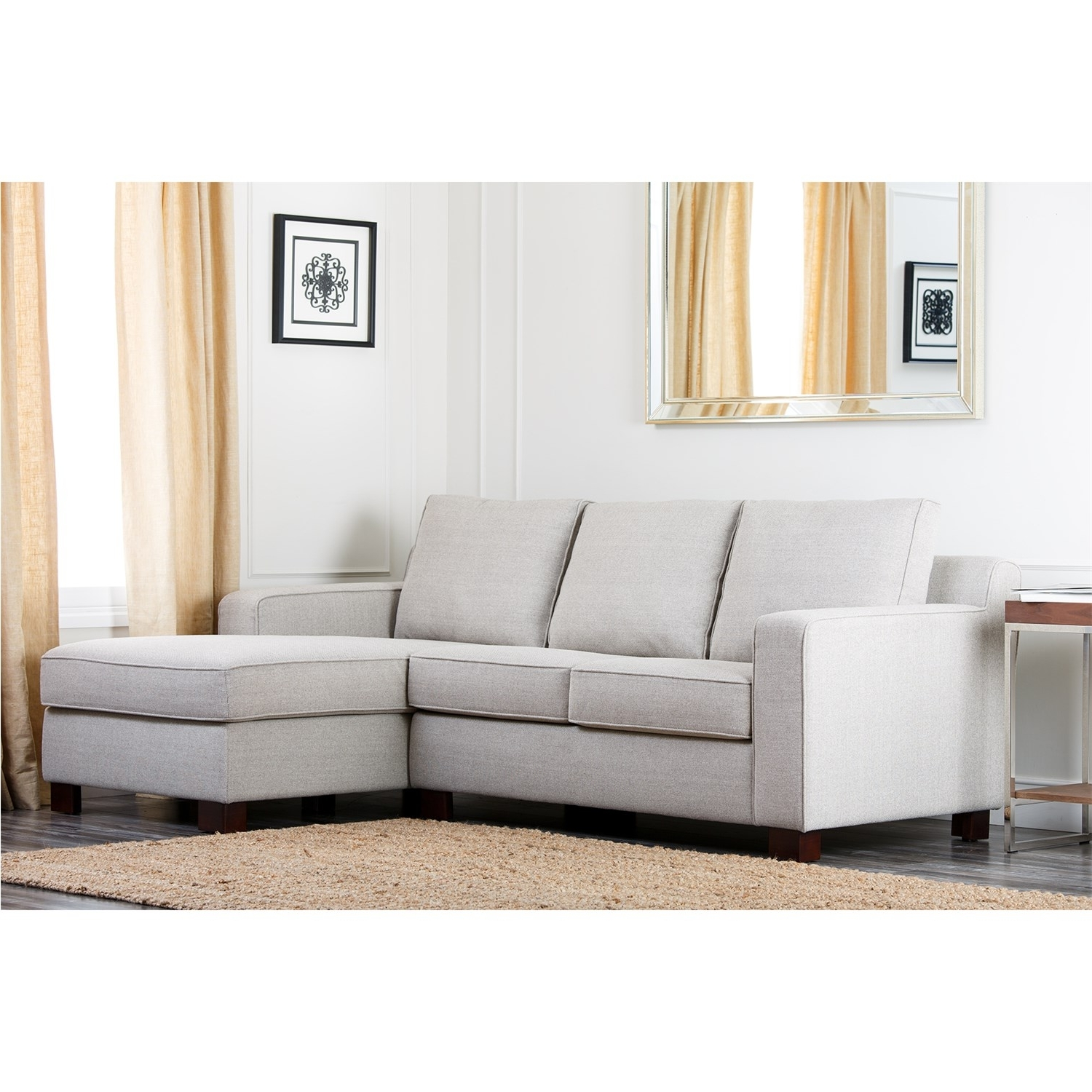 Regina Sectional Sofas For Most Recent Abbyson Living Rl 1321 Gry Regina Grey Fabric Sectional Sofa (View 10 of 20)
