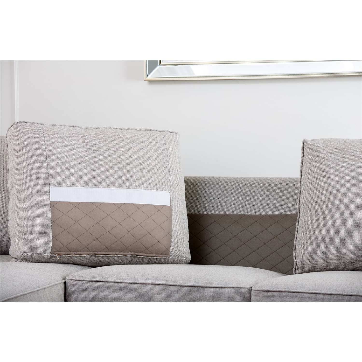 Regina Sectional Sofas In Well Known Abbyson Living Rl 1321 Gry Regina Grey Fabric Sectional Sofa (View 11 of 20)