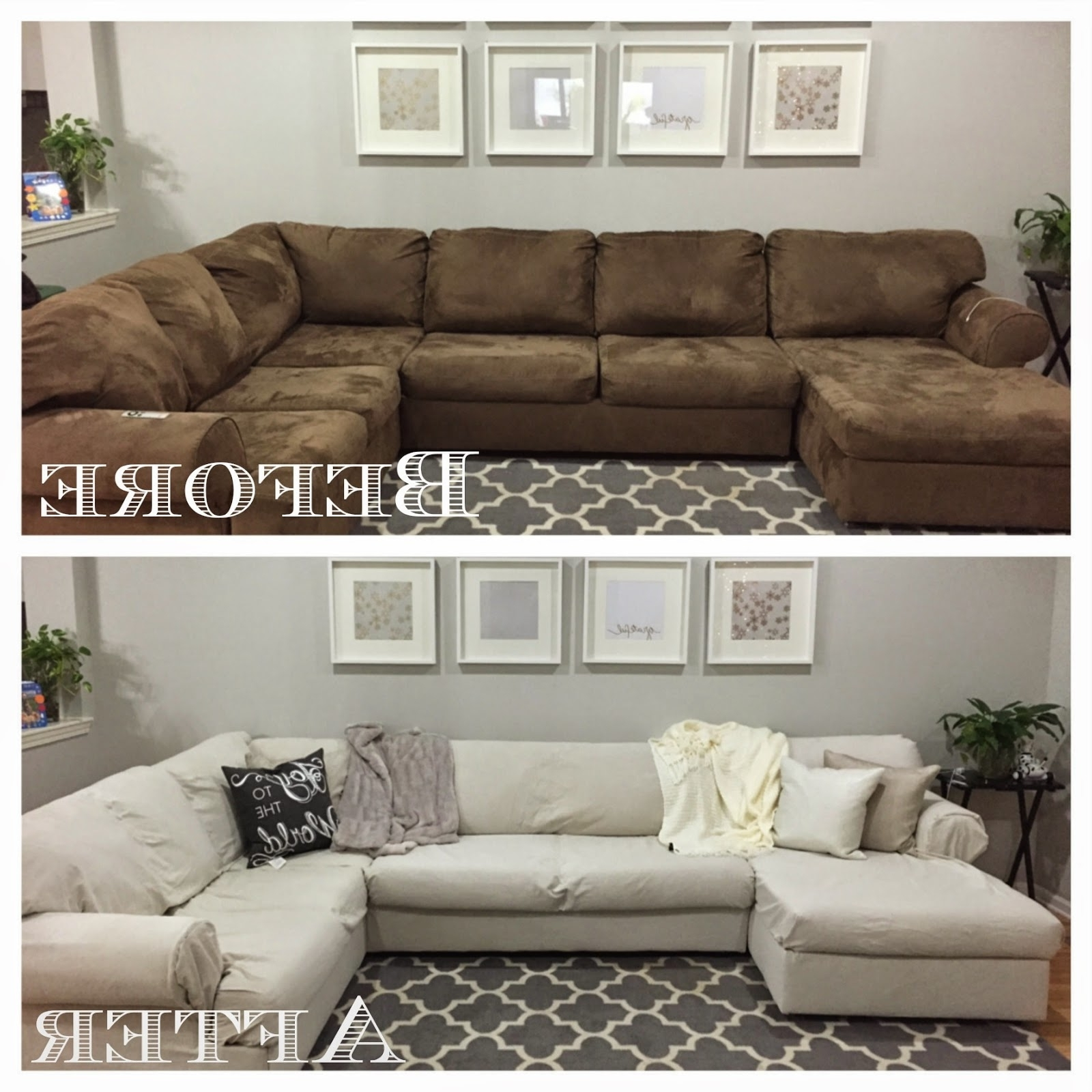 Removable Covers Sectional Sofas Within Latest Diy Sectional Sofa Cover … (View 18 of 20)