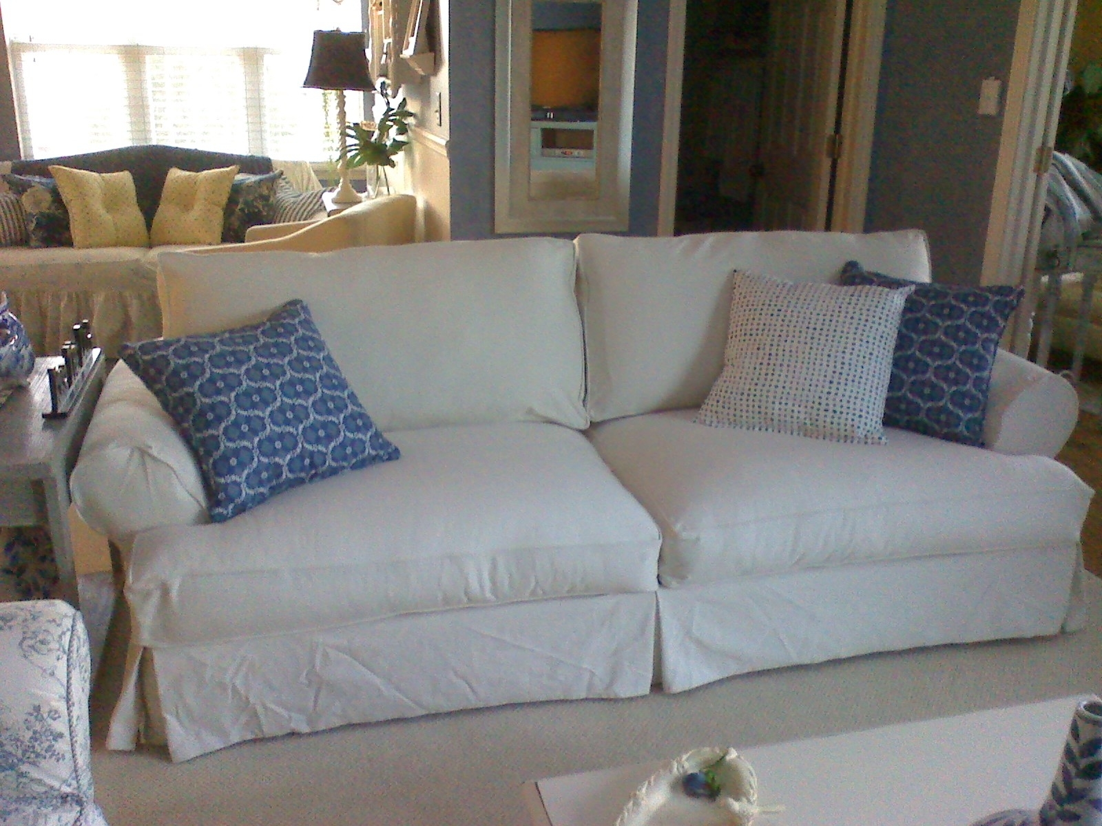 Replacement Slipcover Outlet  Replacement Slipcovers For Famous Inside Widely Used Slipcovers Sofas (View 13 of 20)