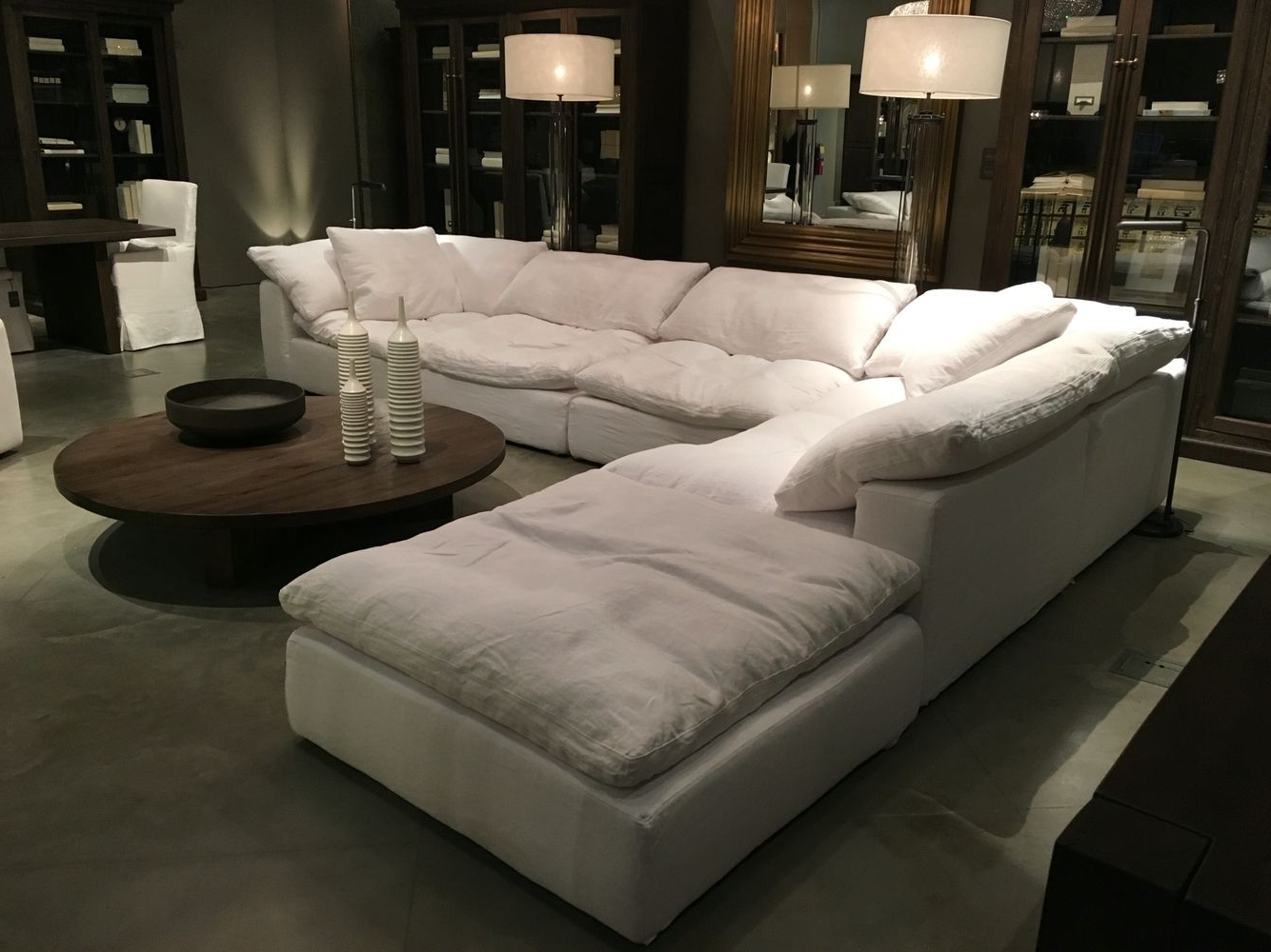 Restoration Hardware Sectional Cloud Couch Future Home Pertaining To Most