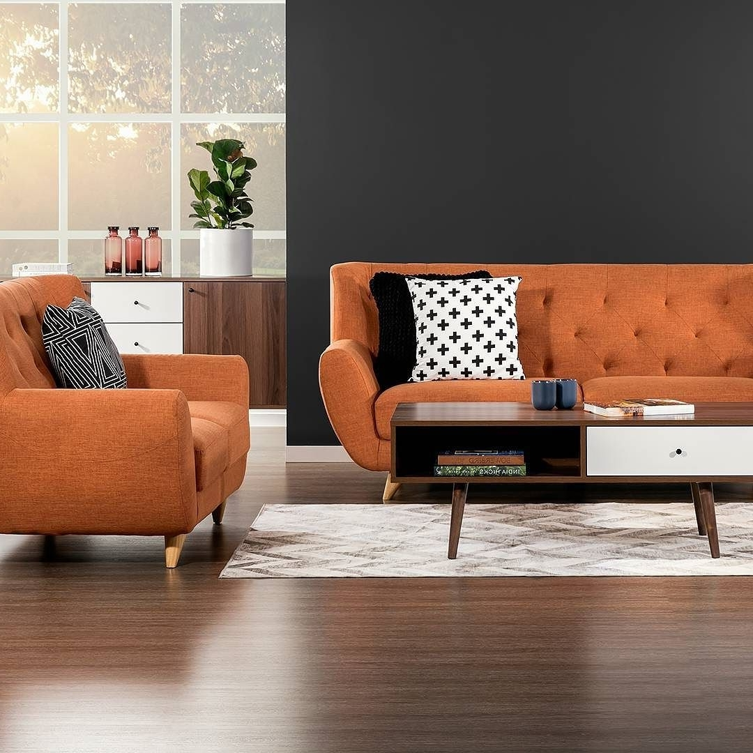 Retro Sofas And Chairs Throughout Well Known Those Chairs! Our New 'juniper' Sofa Chairs In Orange (View 17 of 20)