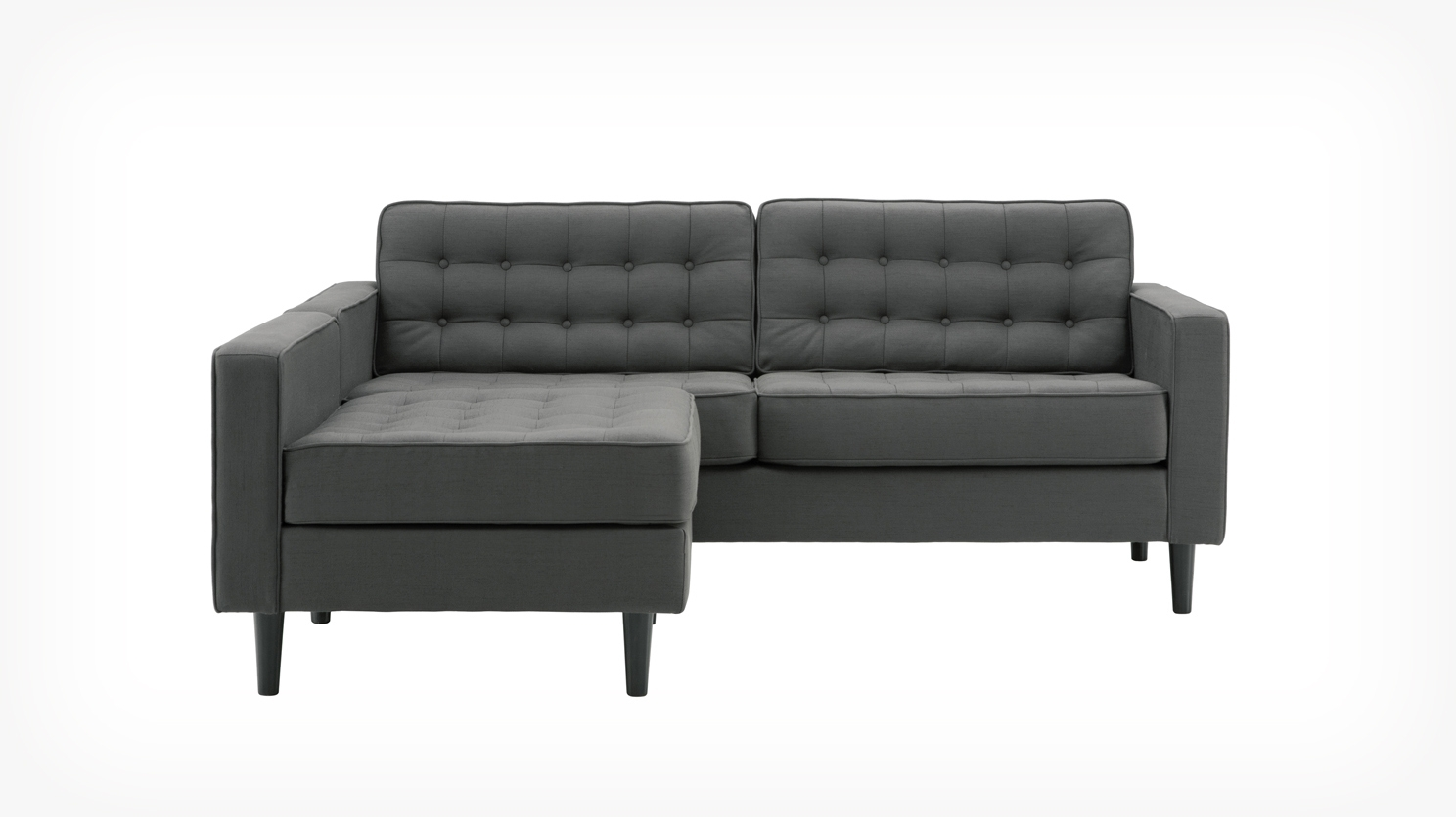 Reverie Apartment 2 Piece Sectional Sofa With Chaise – Fabric With Eq3 Sectional Sofas (View 2 of 20)
