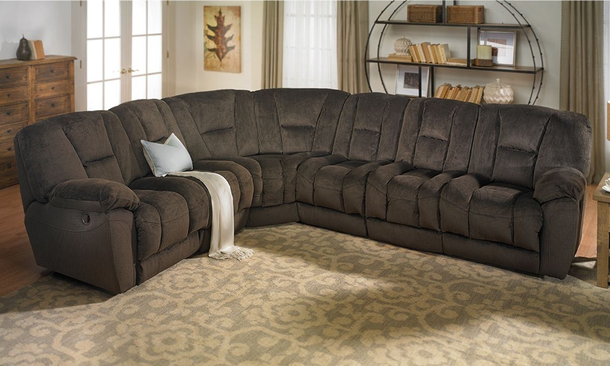 Richmond Va Sectional Sofas Intended For Most Recent Angelica Duel Reclining Memory Foam Sectional Sofa (View 14 of 20)