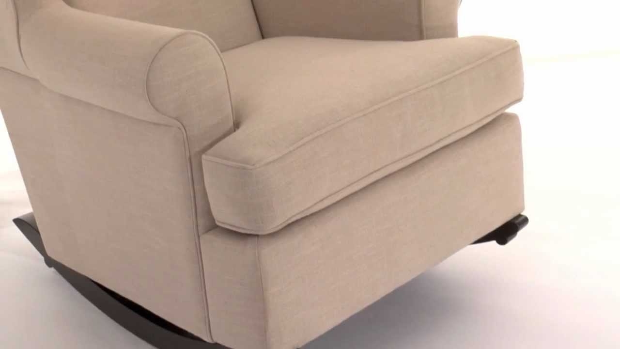 Rocking Sofa Chairs Inside Most Up To Date Enjoy Stylish Comfort With This Upholstered Rocking Chair (View 14 of 20)