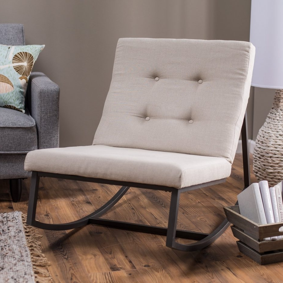 Rocking Sofa Chairs Throughout Most Popular Living Room : Wonderful Rocking Chair Decorating Ideas With Black (View 4 of 20)