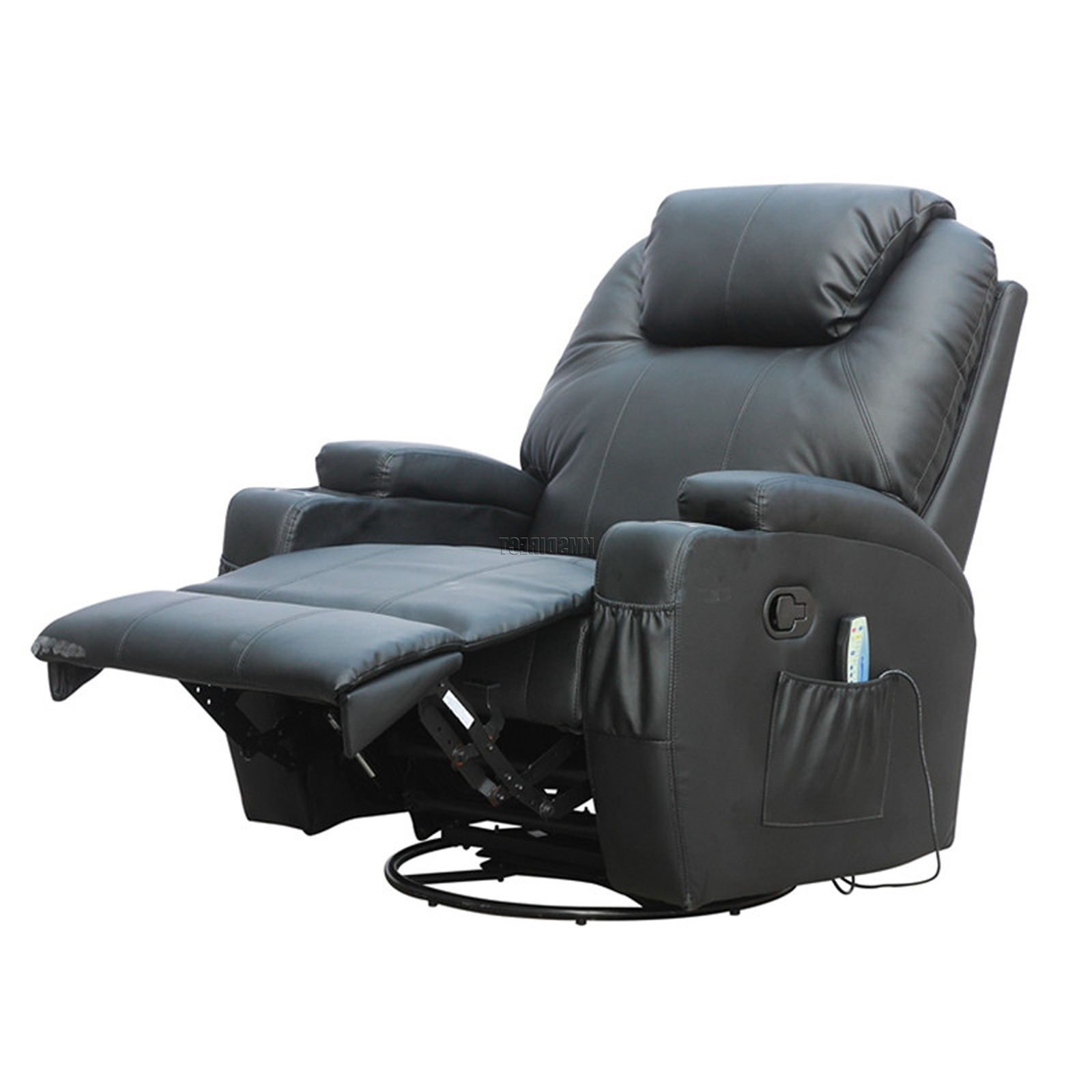 Rocking Sofa Chairs With Regard To Newest Foxhunter Bonded Leather Sofa Massage Recliner Chair Swivel (View 6 of 20)