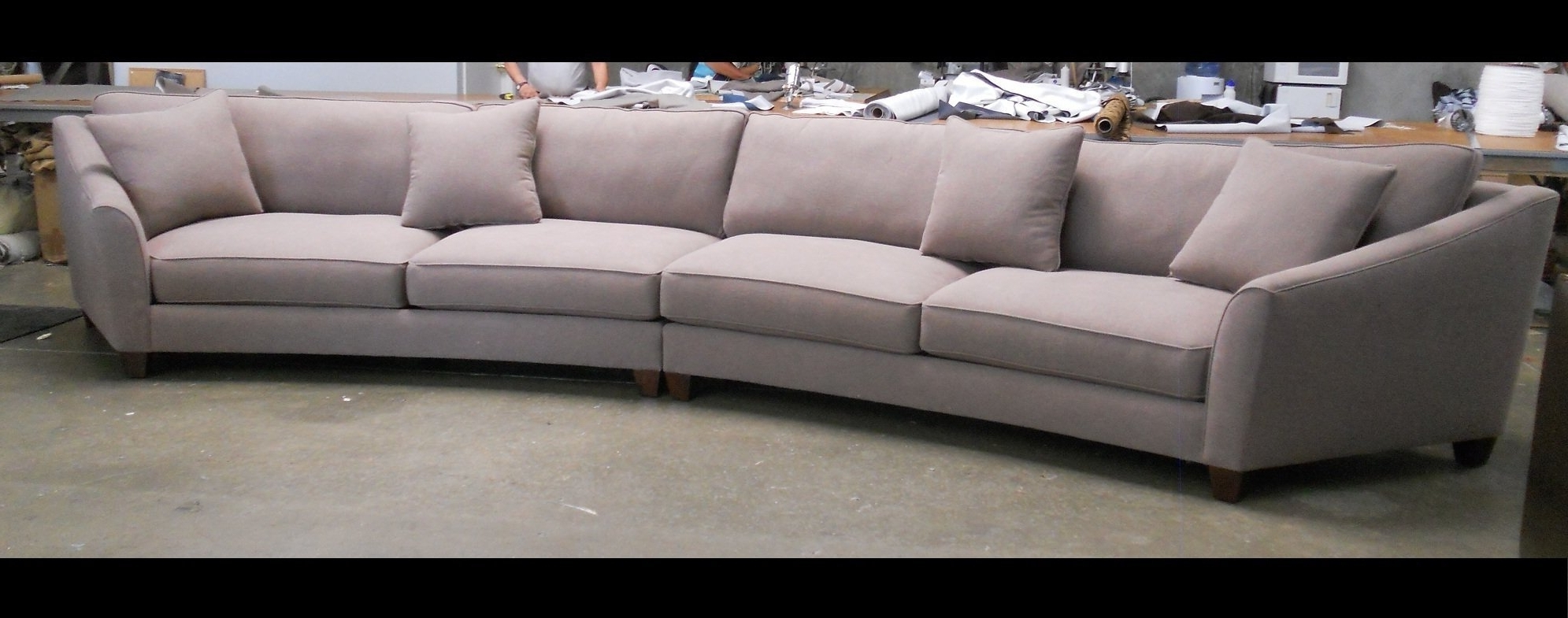 Round Sectional Sofas In Well Liked Inspirational Curved Sectional Sofa 14 With Additional Sofa Room (View 13 of 20)