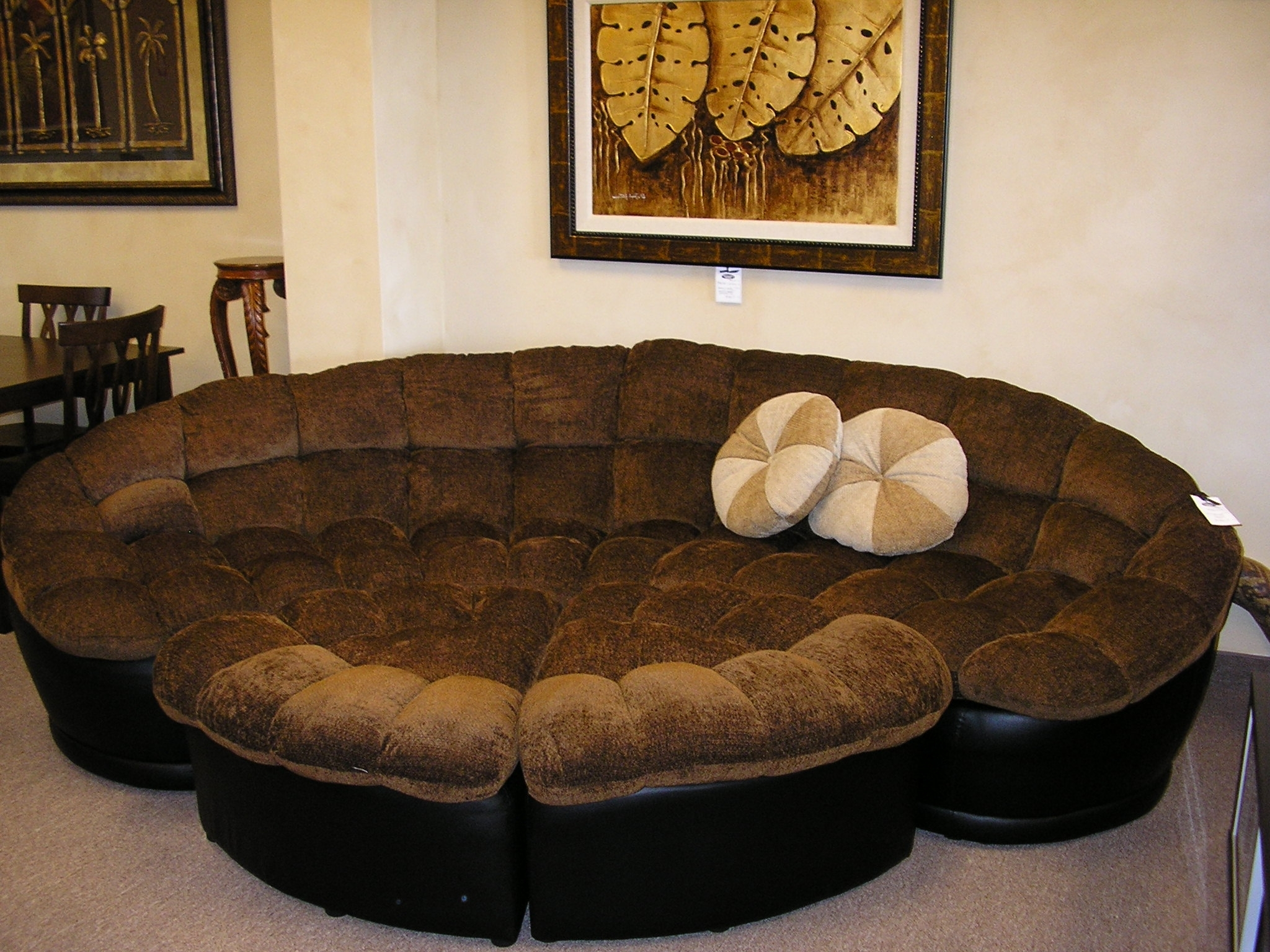 Round Sectional Sofas Inside Well Known Sectional Sofa Design: Beautiful Round Sectional Sofas Couches And (View 12 of 20)