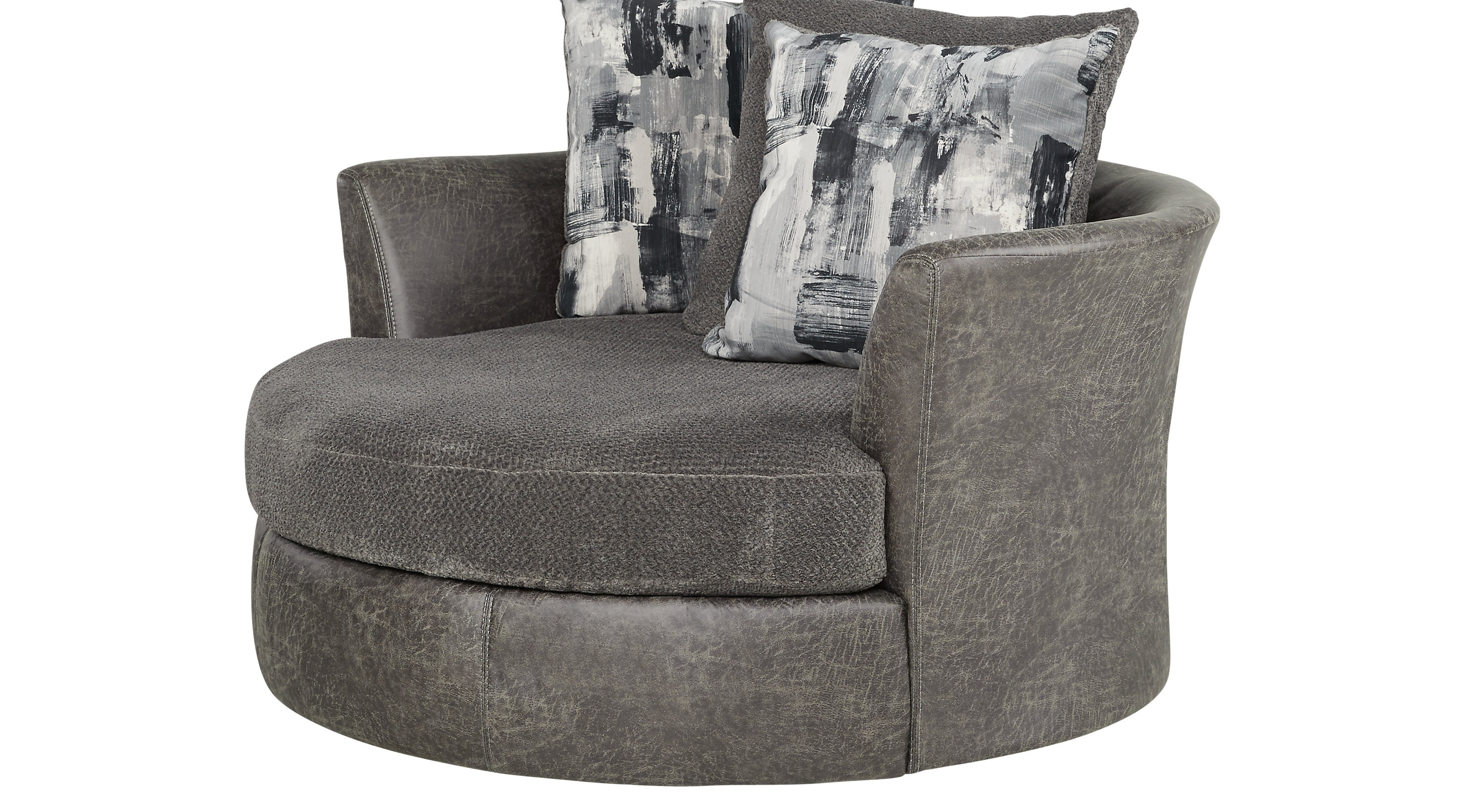 Round Sofa Chair, Round Couch Chair Intended For Famous Sofas With Swivel Chair (View 9 of 20)