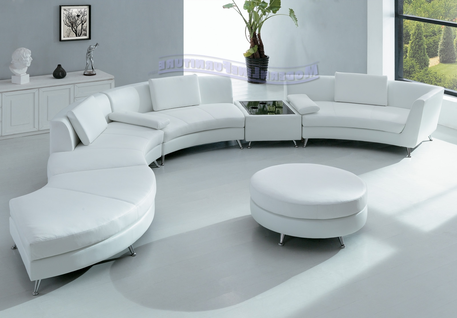 Round Sofas Inside Most Popular Hotel Lobby Round Sofa Striking Living Room Leather Set Interior (View 12 of 20)
