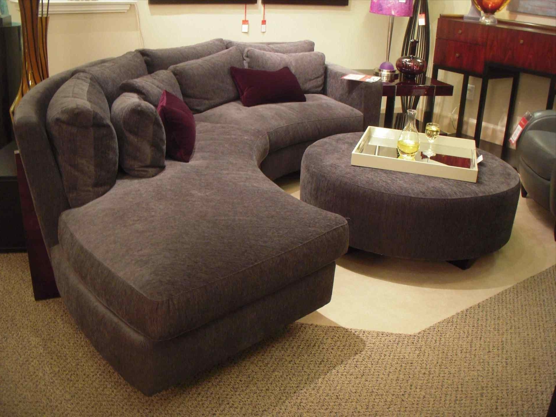 Round Sofas Within 2019 Couch : Wonderful Antique Studio Leather Round Couch Chair Sofa (View 9 of 20)