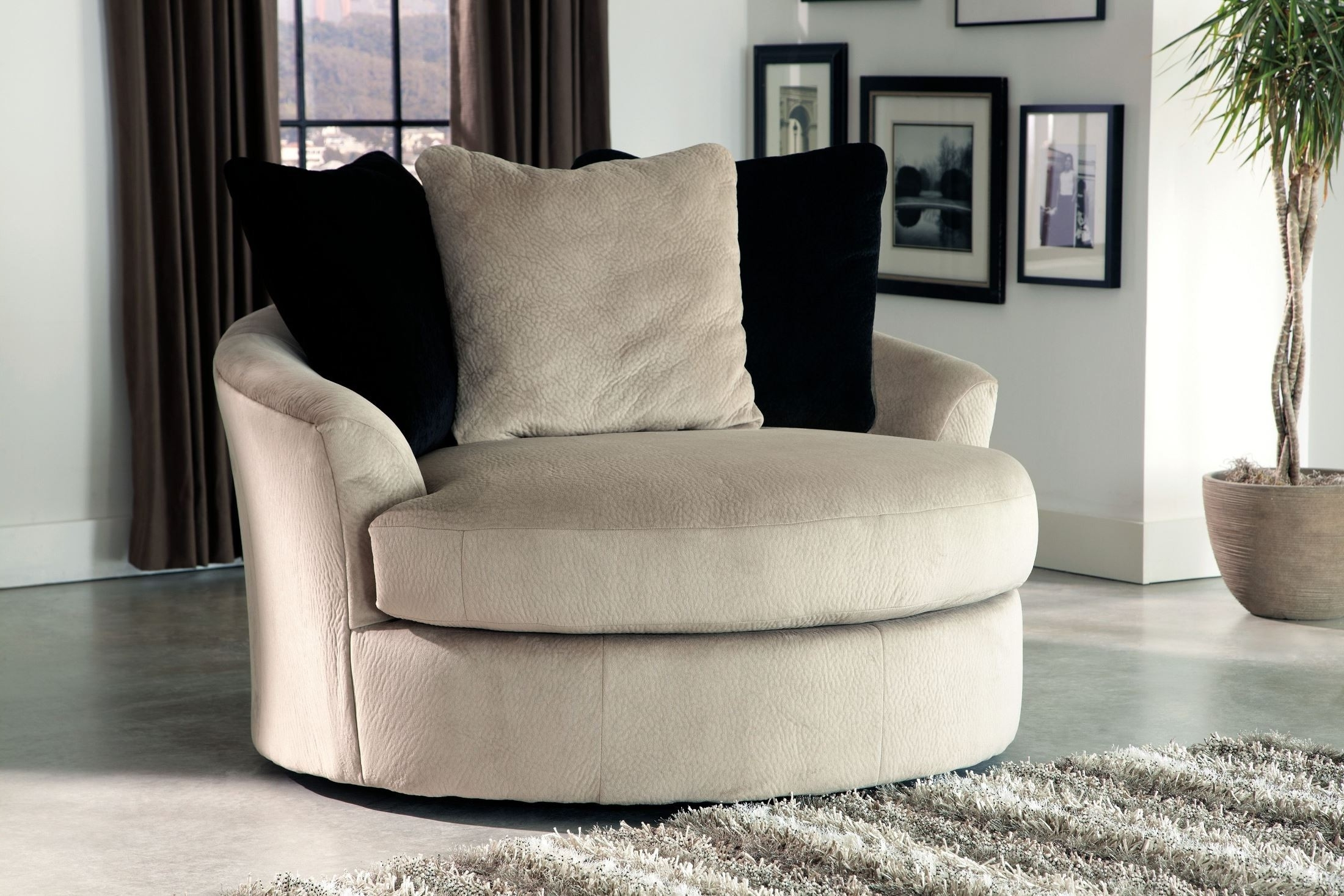 Round Swivel Sofa Chairs Pertaining To 2018 Chair : Cheap Swivel Chairs Round Swivel Cuddle Chair Swivel Couch (View 8 of 20)