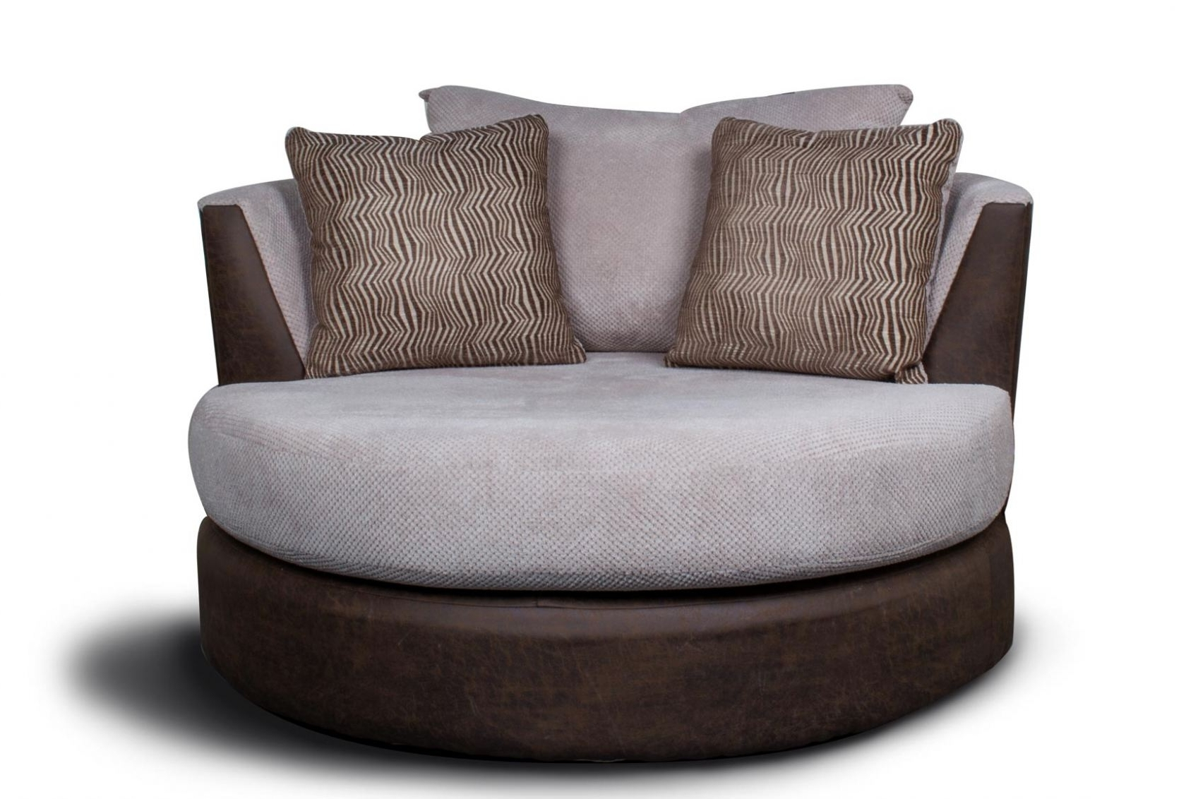 Round Swivel Sofa Chairs Regarding Newest Sofa : Dazzling Round Swivel Sofa Chair Circular Armchair Large (View 16 of 20)