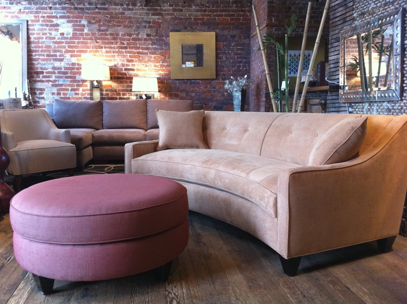 Rounded Sofas Regarding Most Current Sofa 101: Curved Vs (View 18 of 20)