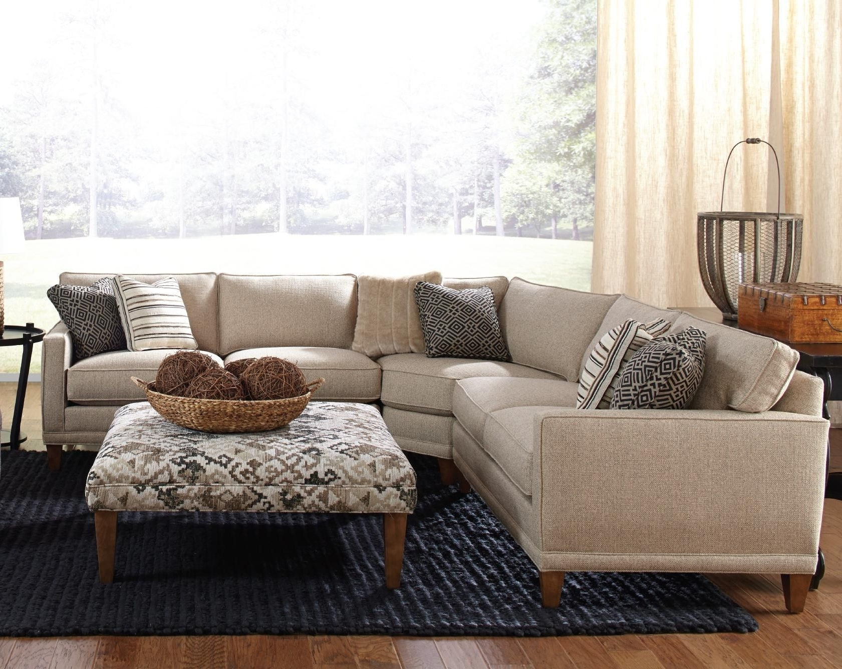Rowe Townsend Contemporary 3 Piece Sectional Sofa – Sprintz Within Newest Little Rock Ar Sectional Sofas (View 17 of 20)