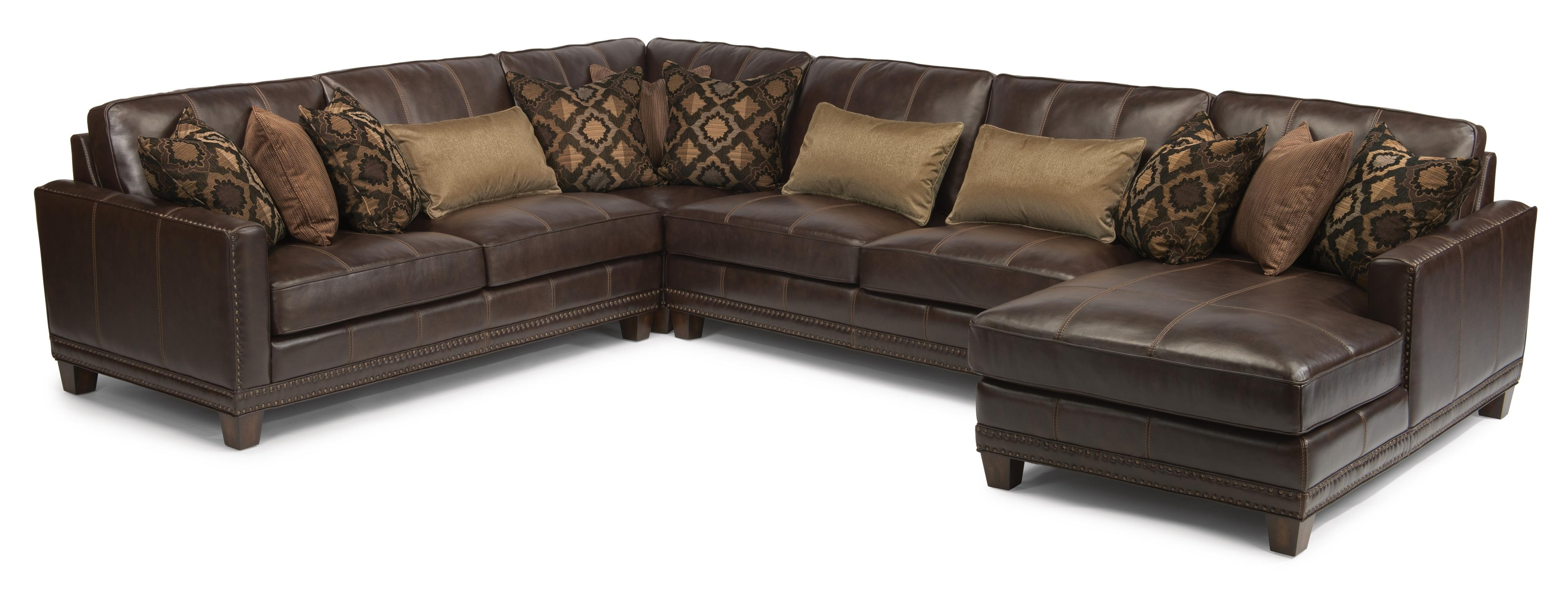 Royal Furniture Sectional Sofas For Current Flexsteel Latitudes – Port Royal Transitional Four Piece Sectional (View 18 of 20)
