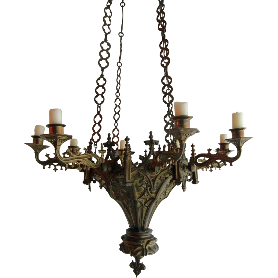 Rustic Candle Chandeliers (View 12 of 20)