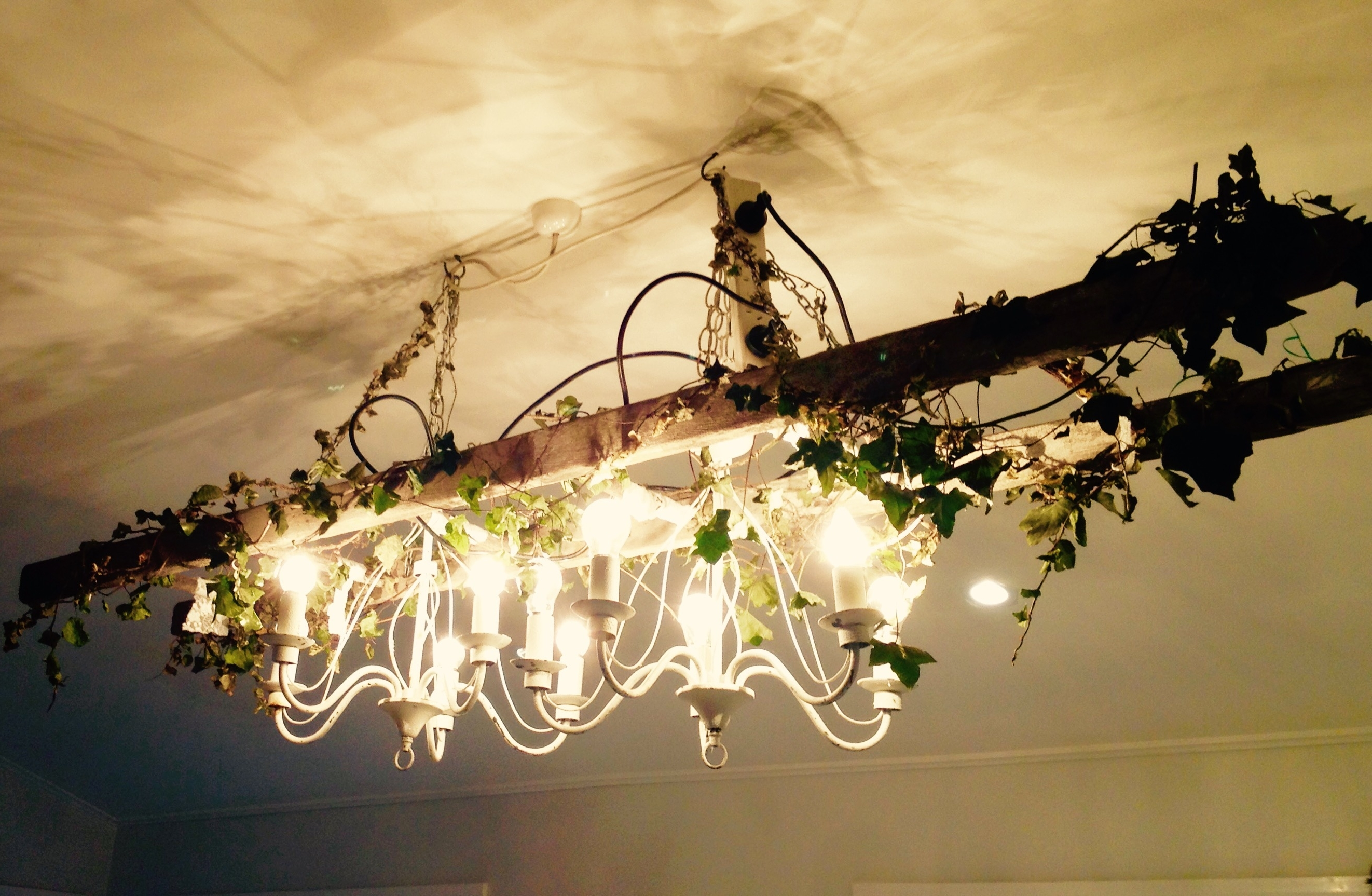 Rustic Ladder Chandelier – Vintage & Style (View 16 of 20)